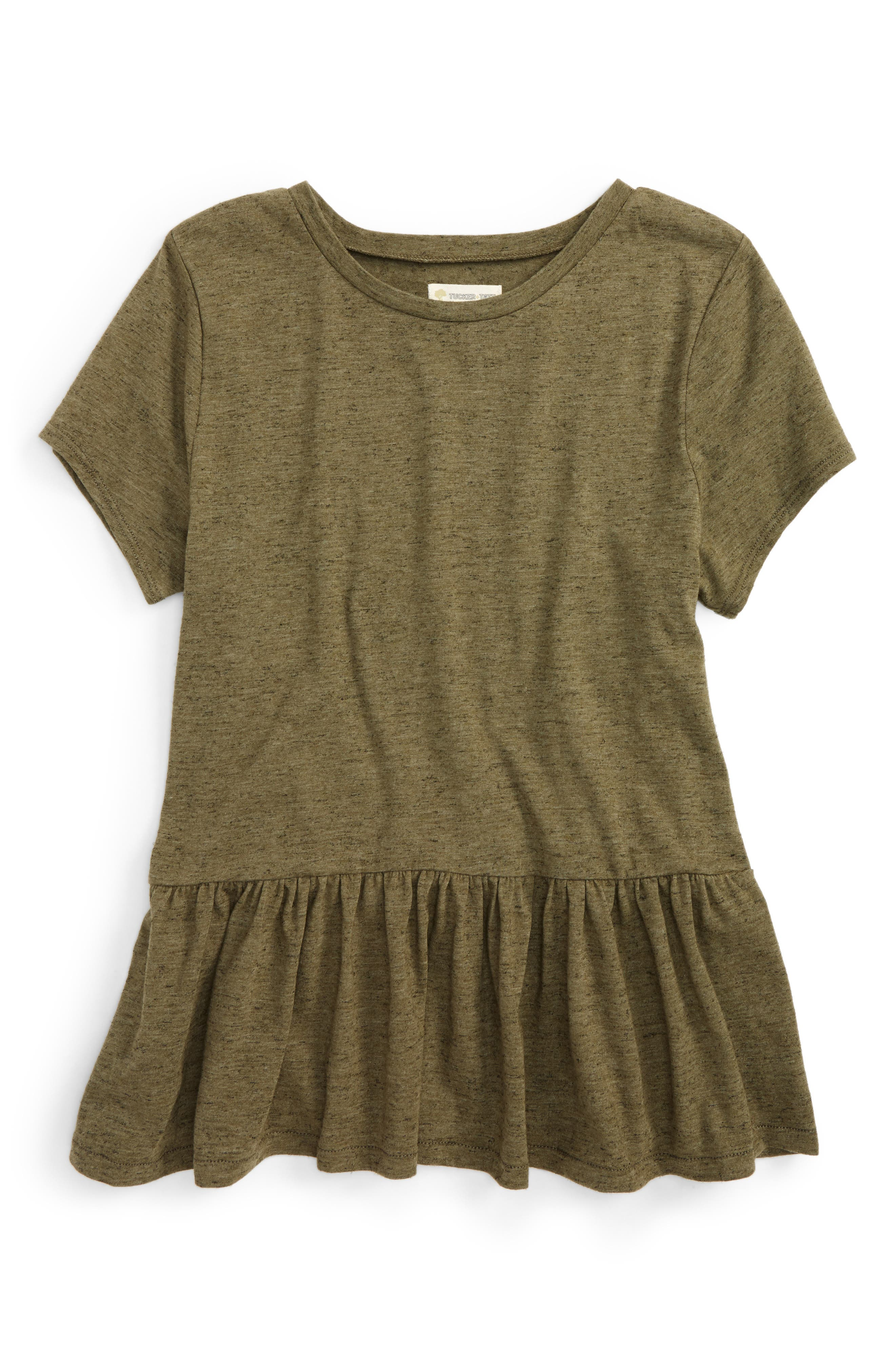 Tucker + Tate Peplum Tee (Big Girls)