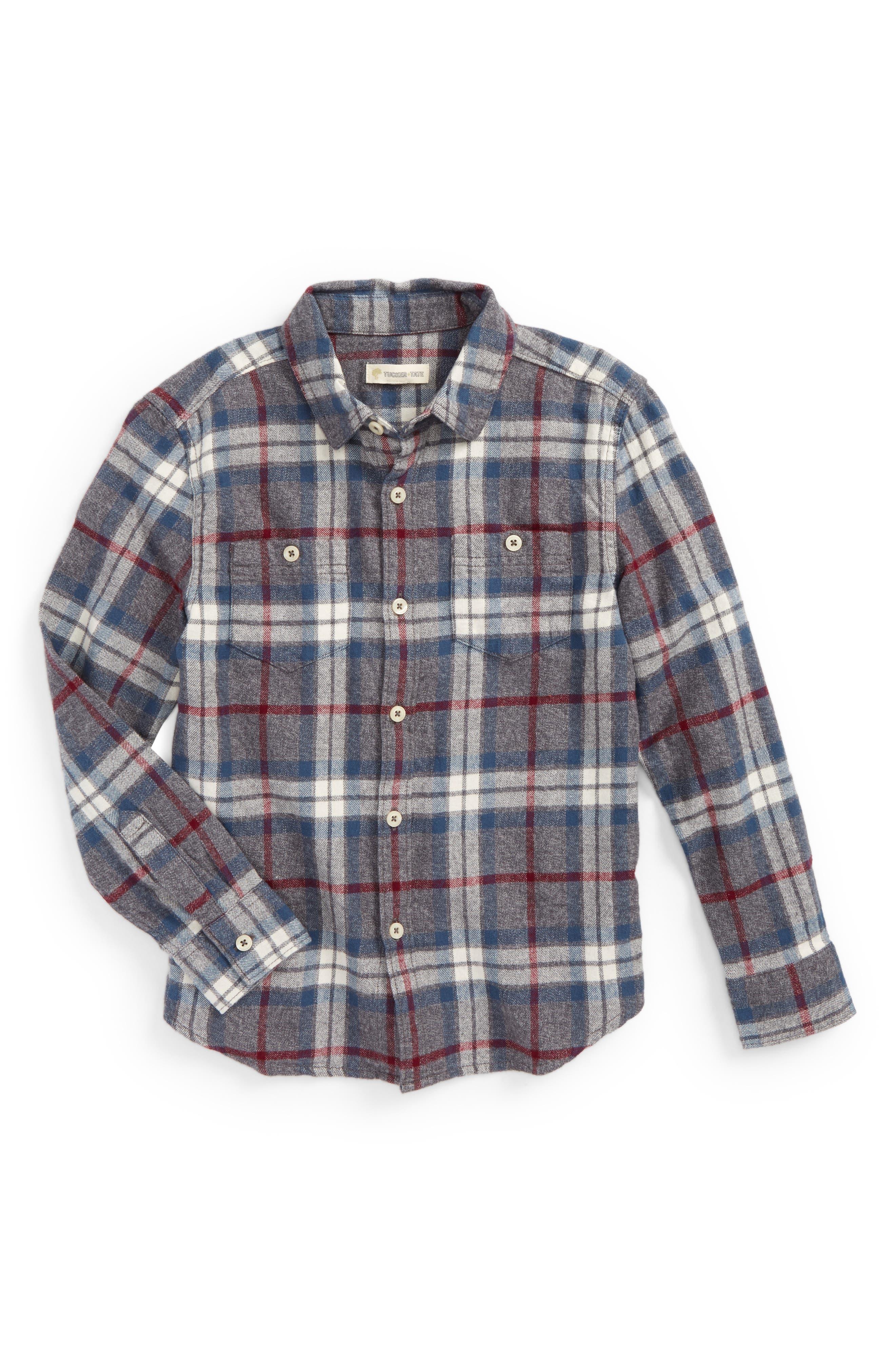 Tucker + Tate Plaid Flannel Shirt (Toddler Boys & Little Boys)