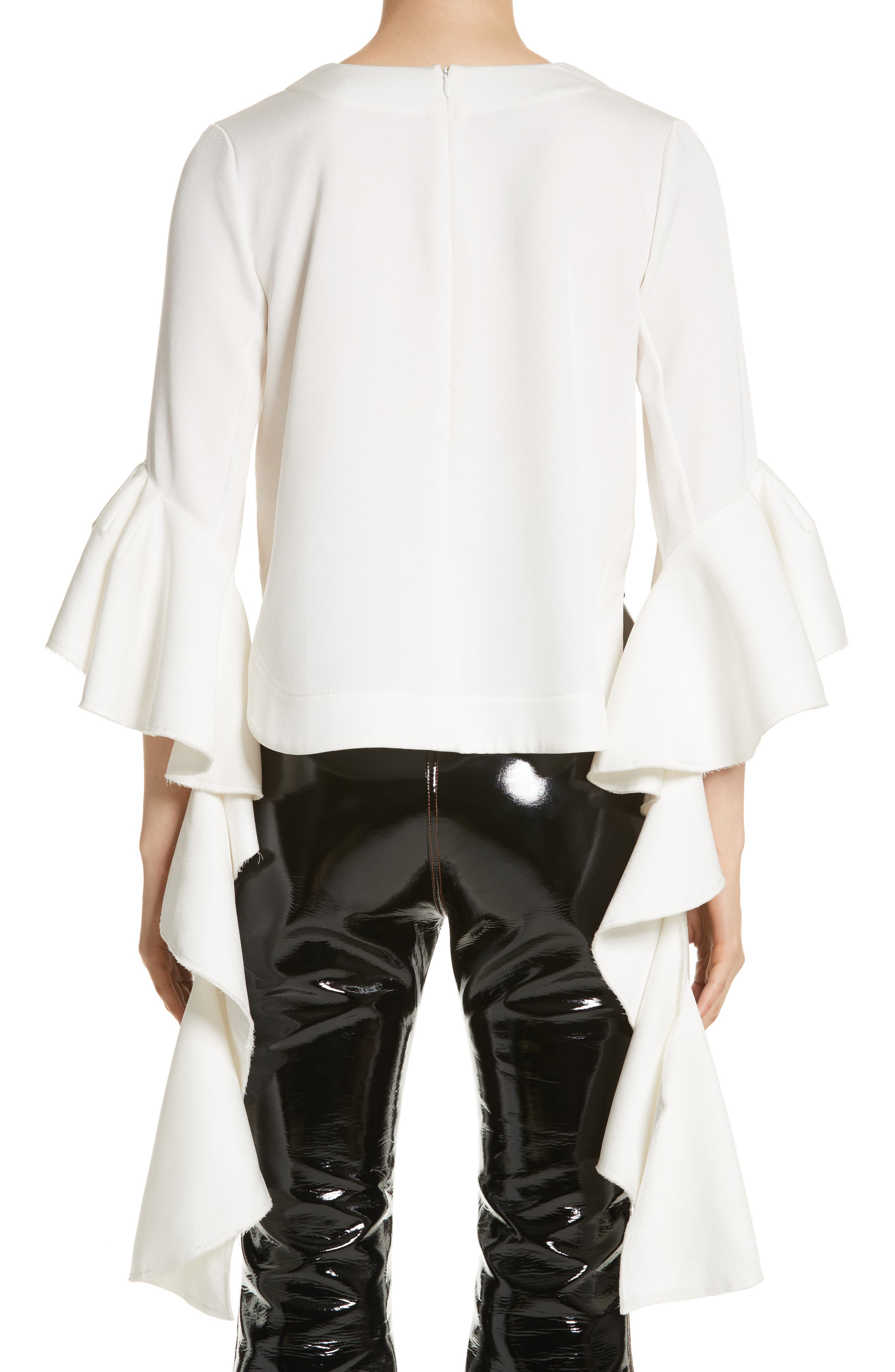 Alternate Image 2  - ELLERY Ace Frill Sleeve V-Neck Top