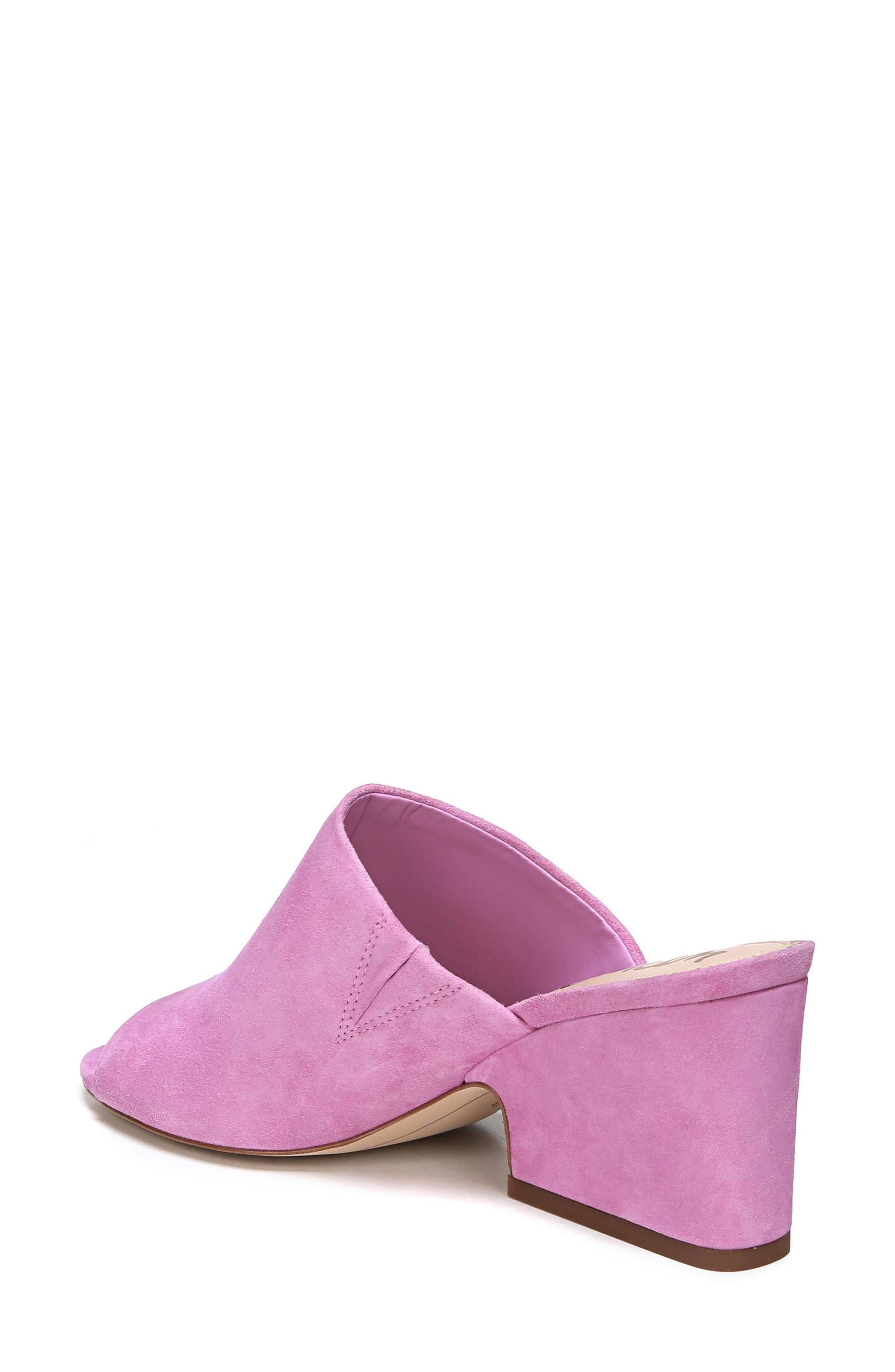 Rheta Mule,                             Alternate thumbnail 2, color,                             Fiji Pink Suede