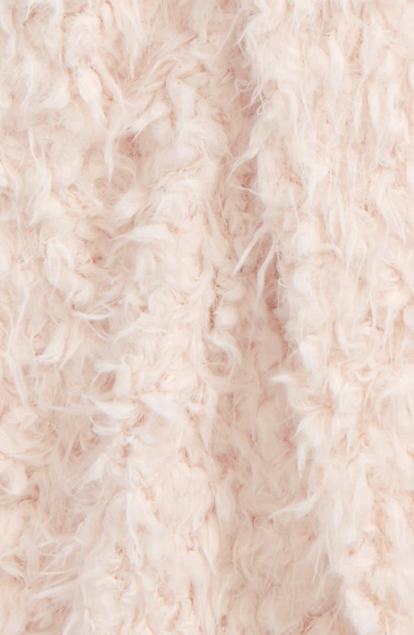 Faux Fur Vest,                             Alternate thumbnail 2, color,                             Blush