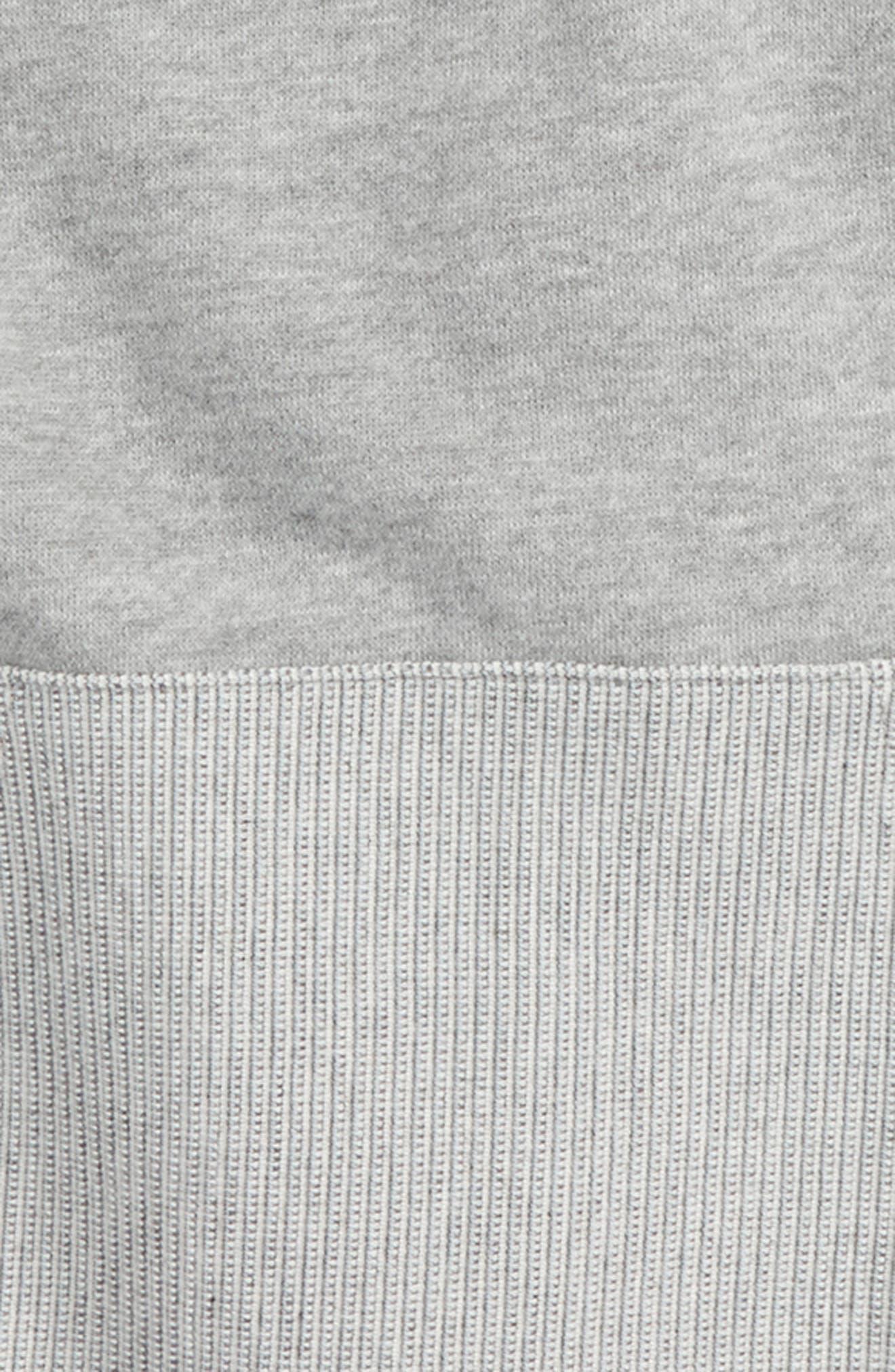 Alternate Image 2  - Converse Textured Knit Hoodie (Big Boys)