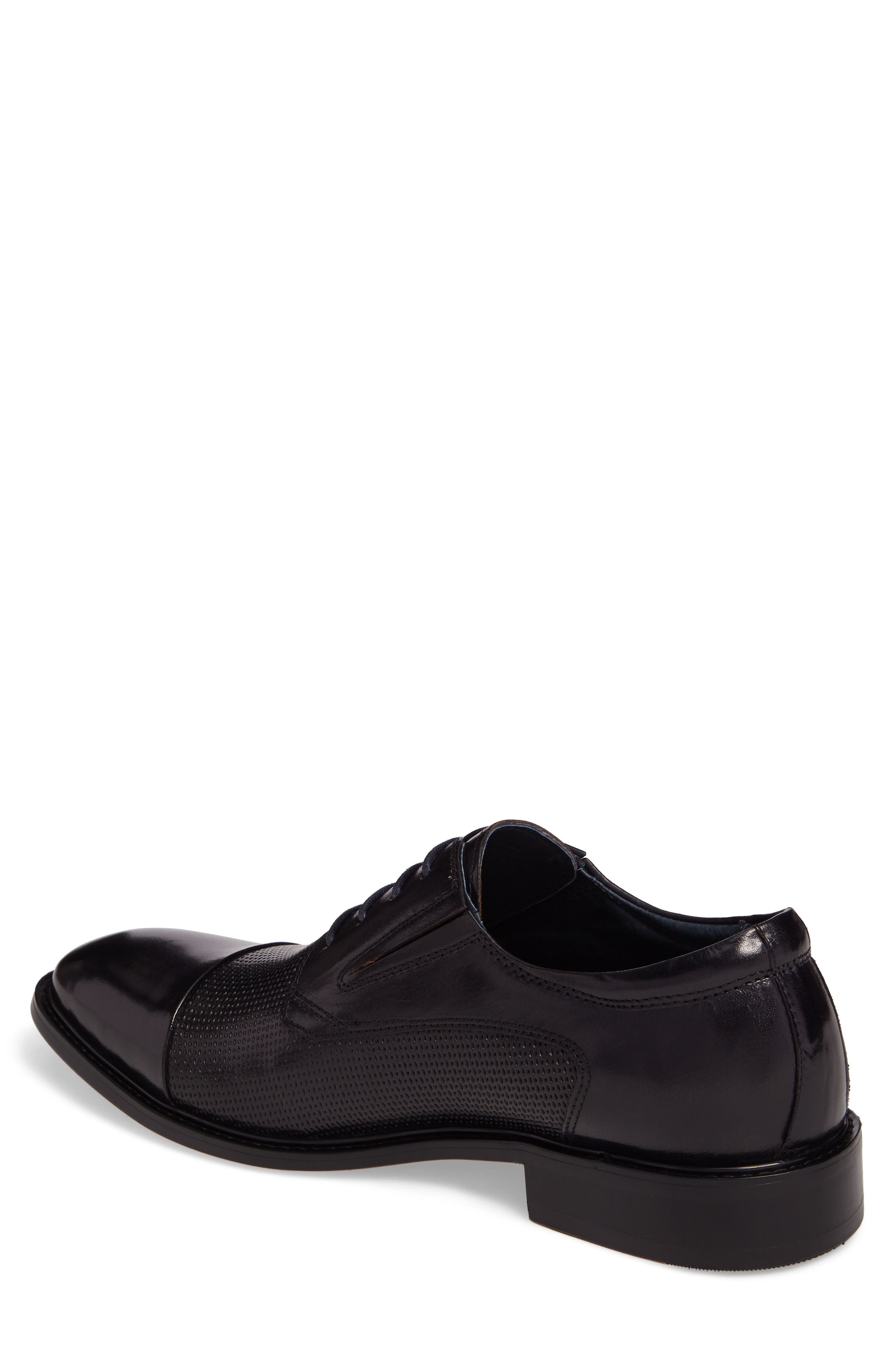 Dayes Cap Toe Derby,                             Alternate thumbnail 2, color,                             Navy Leather