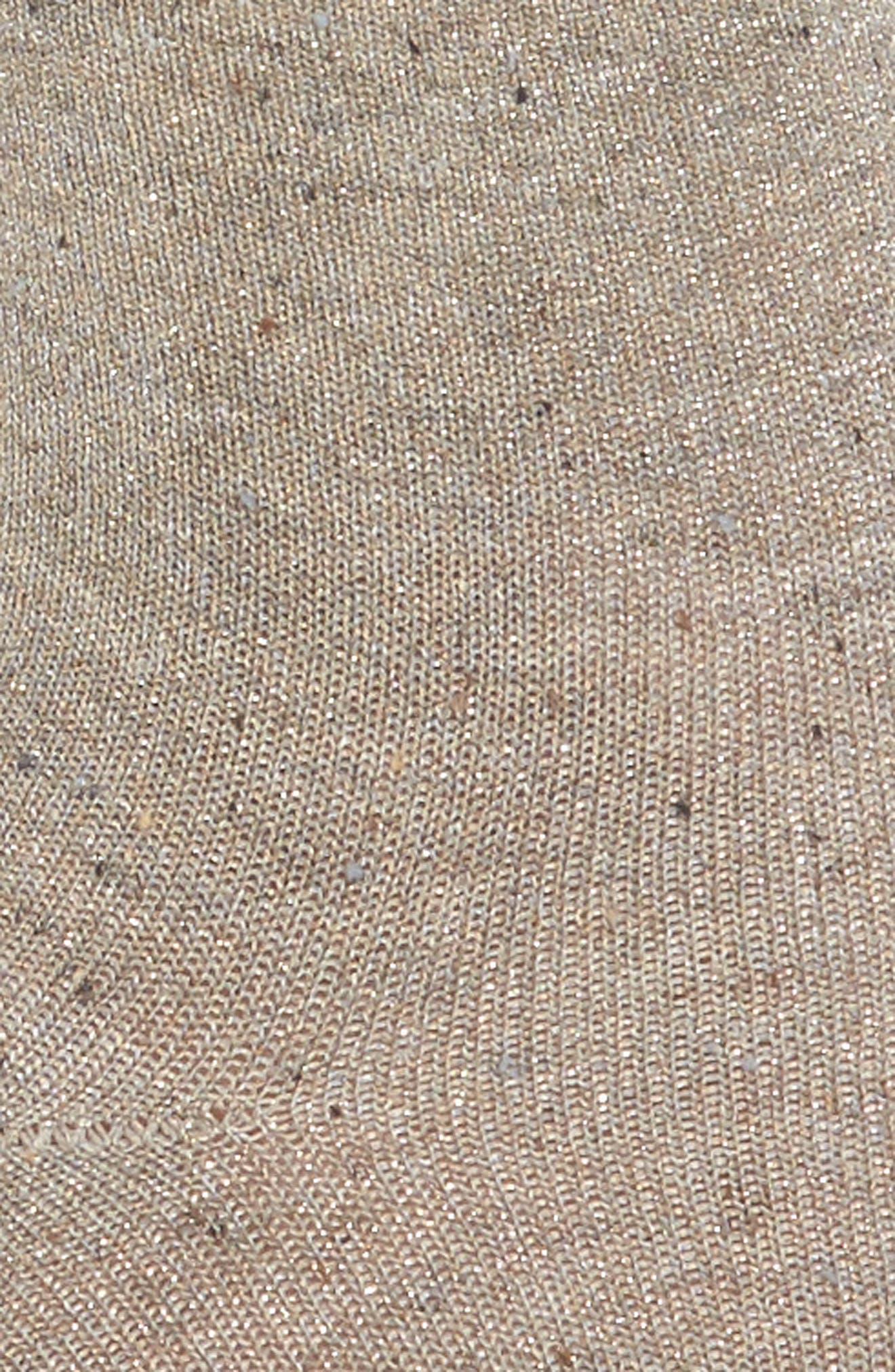 Alternate Image 2  - Lemon Metallic Tweed Ankle Socks