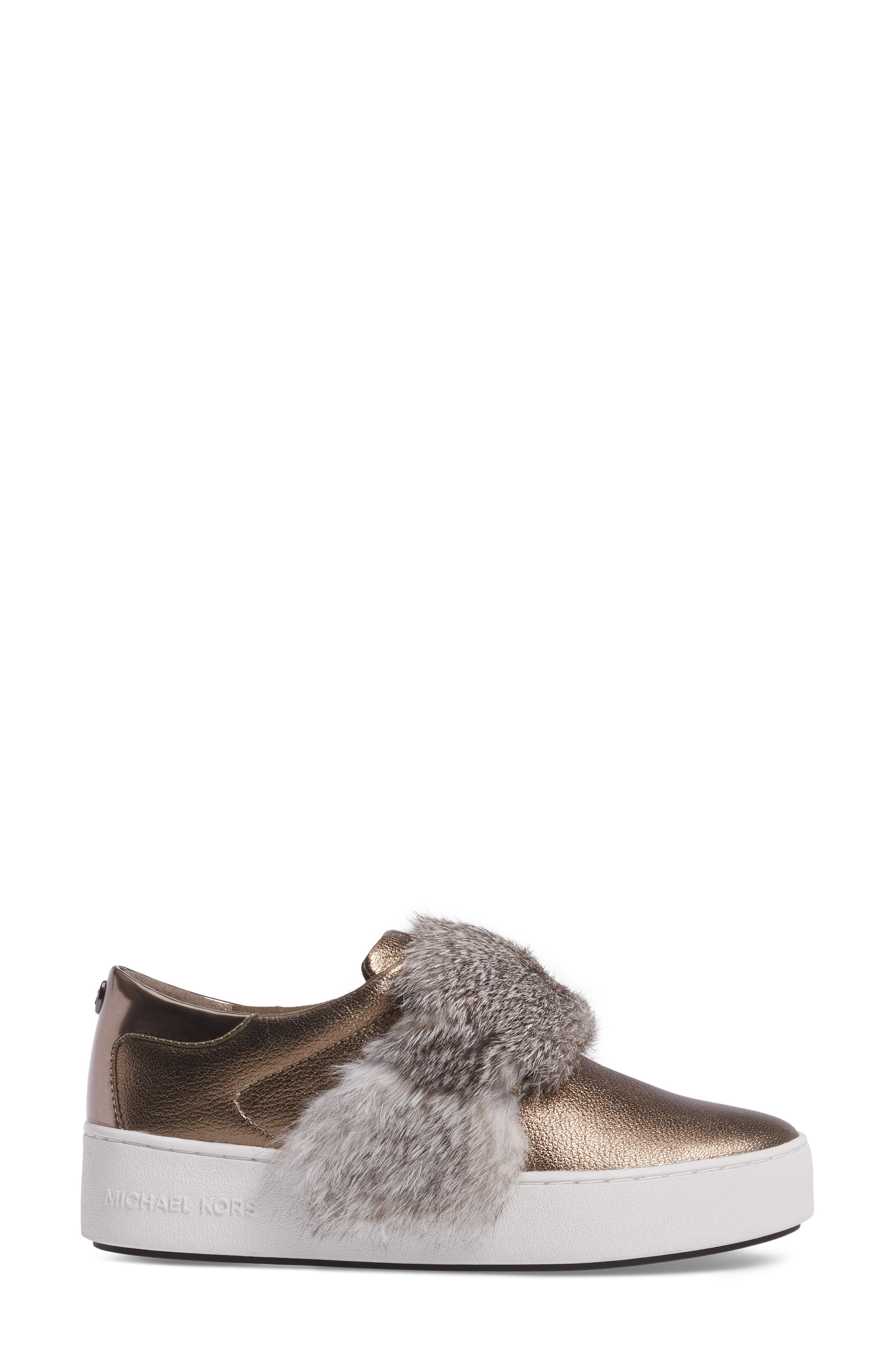 Alternate Image 3  - MICHAEL Michael Kors Maven Genuine Rabbit Fur Sneaker (Women)