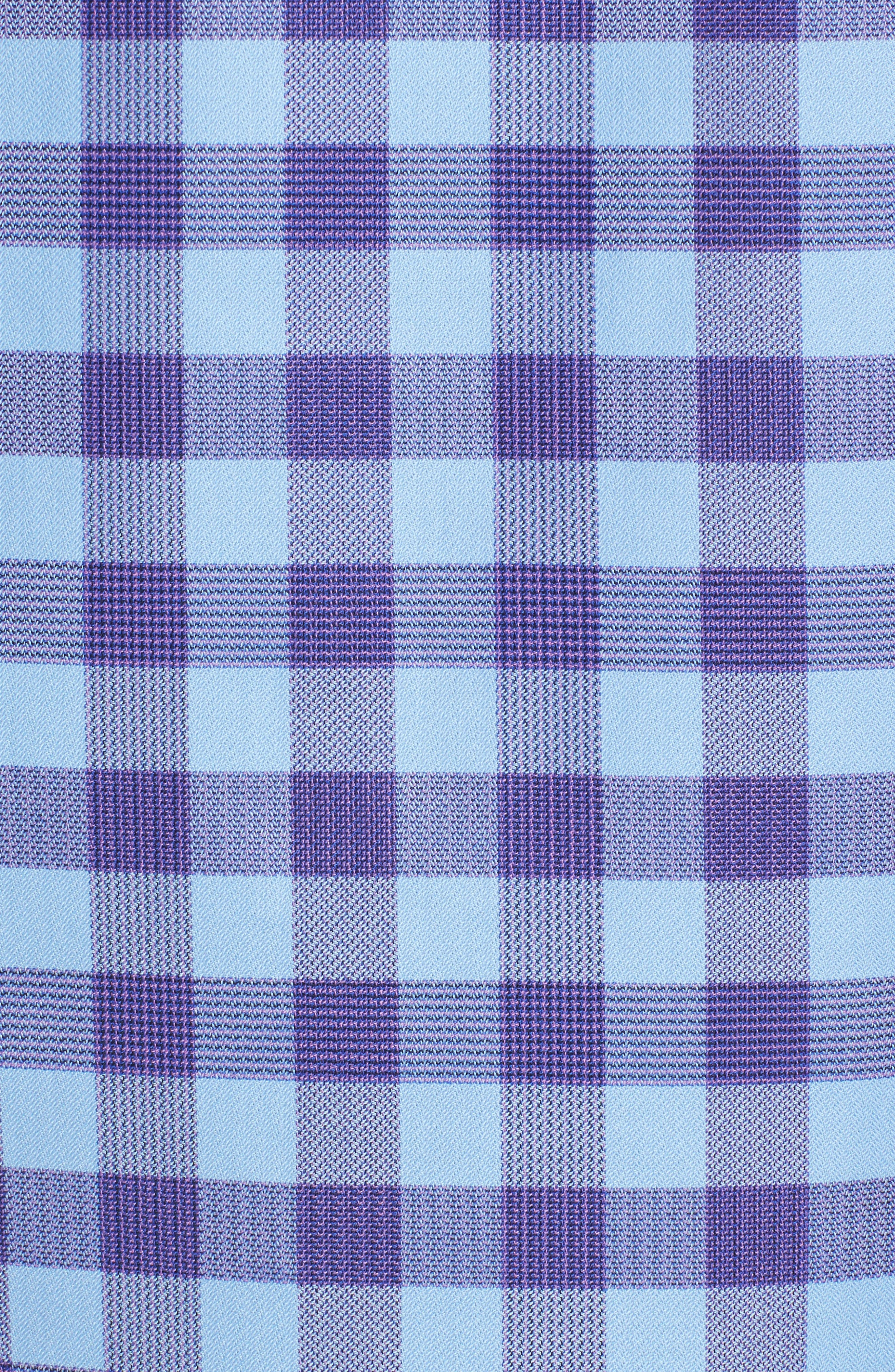 Classic Fit Woven Check Sport Shirt,                             Alternate thumbnail 5, color,                             Orchid