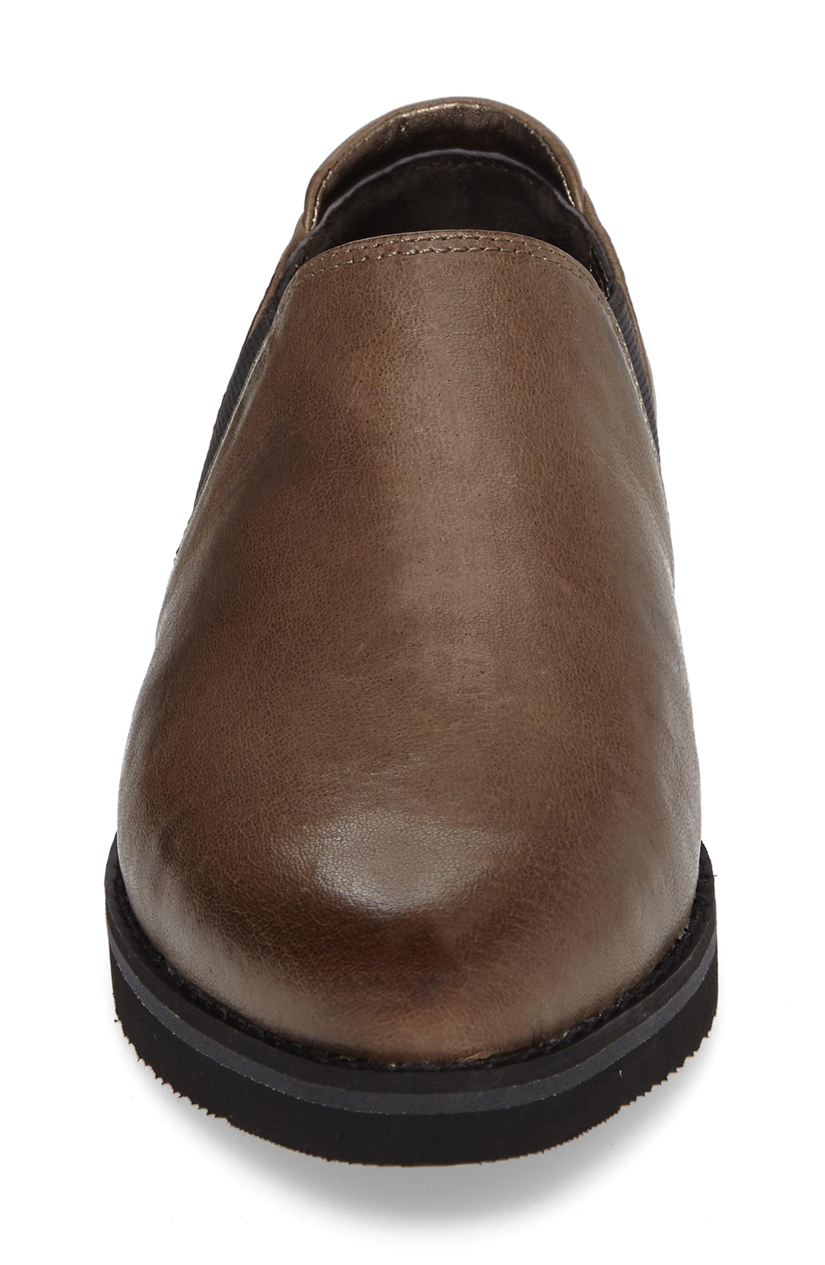 Brooklyn Slip-On,                             Alternate thumbnail 4, color,                             Mushroom Leather