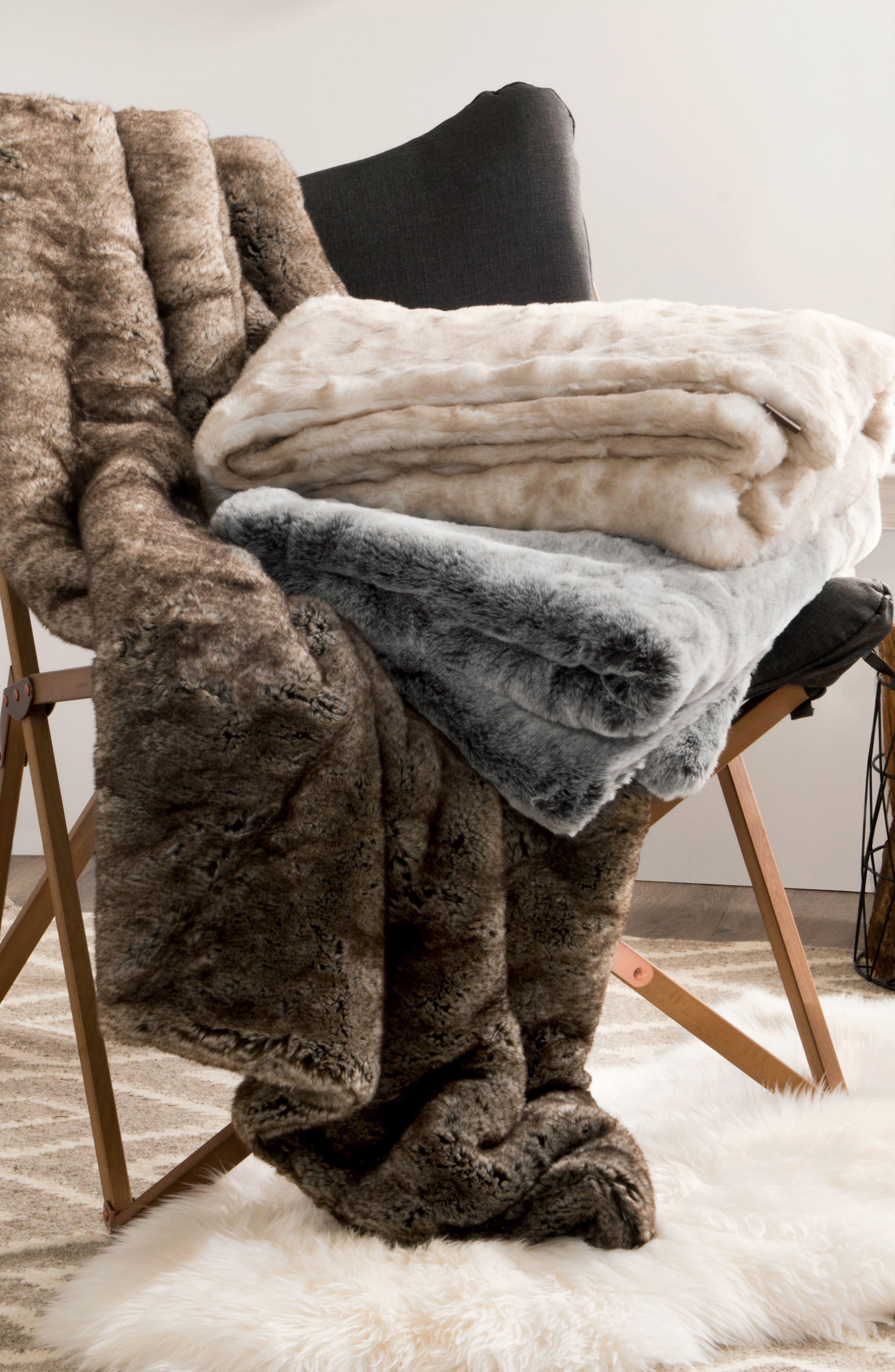 Alternate Image 2  - UGG® Dream Faux Fur Throw