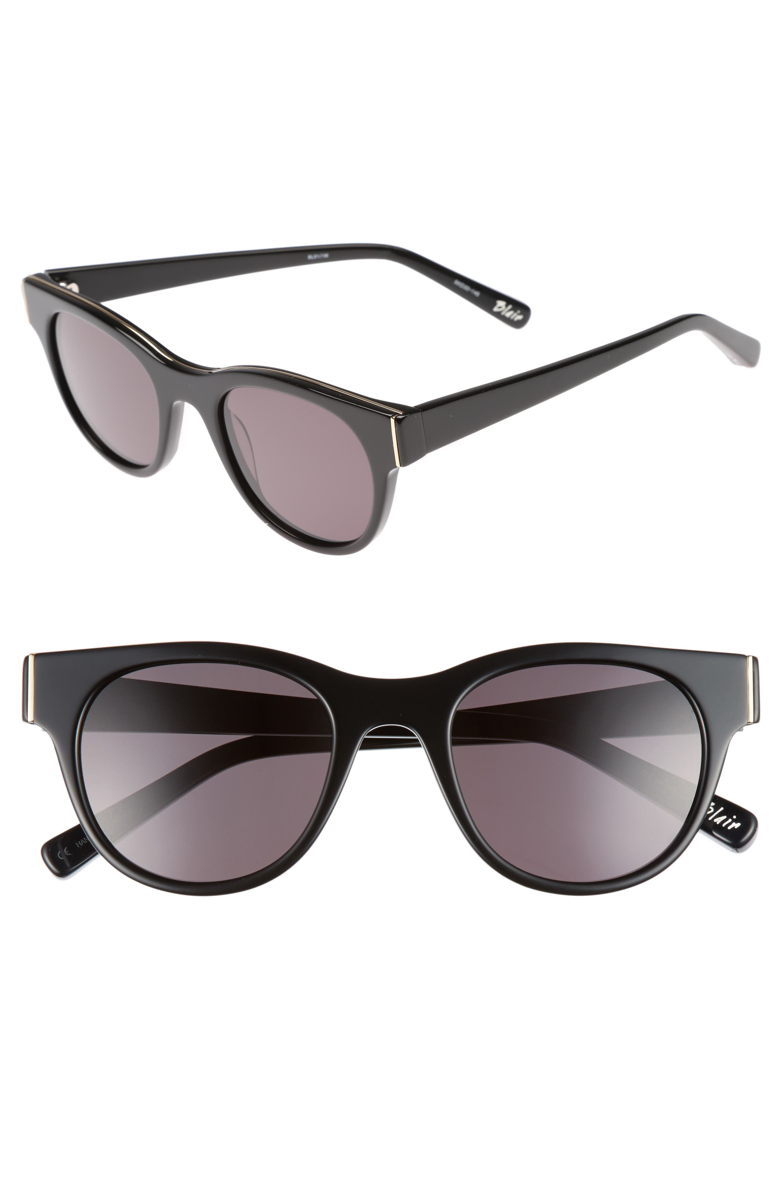 Blair 50mm Cat Eye Sunglasses,                         Main,                         color, Black
