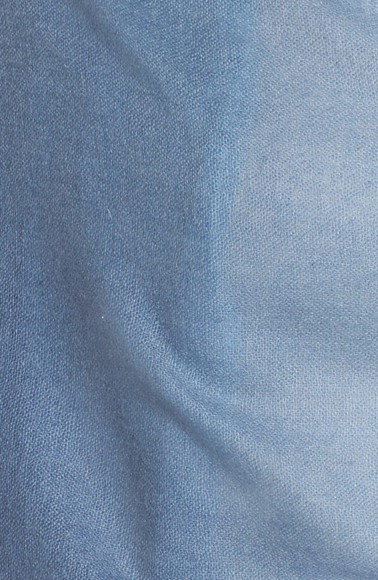 Caslon Dip Dye Cashmere Wrap,                             Alternate thumbnail 5, color,                             Blue Combo