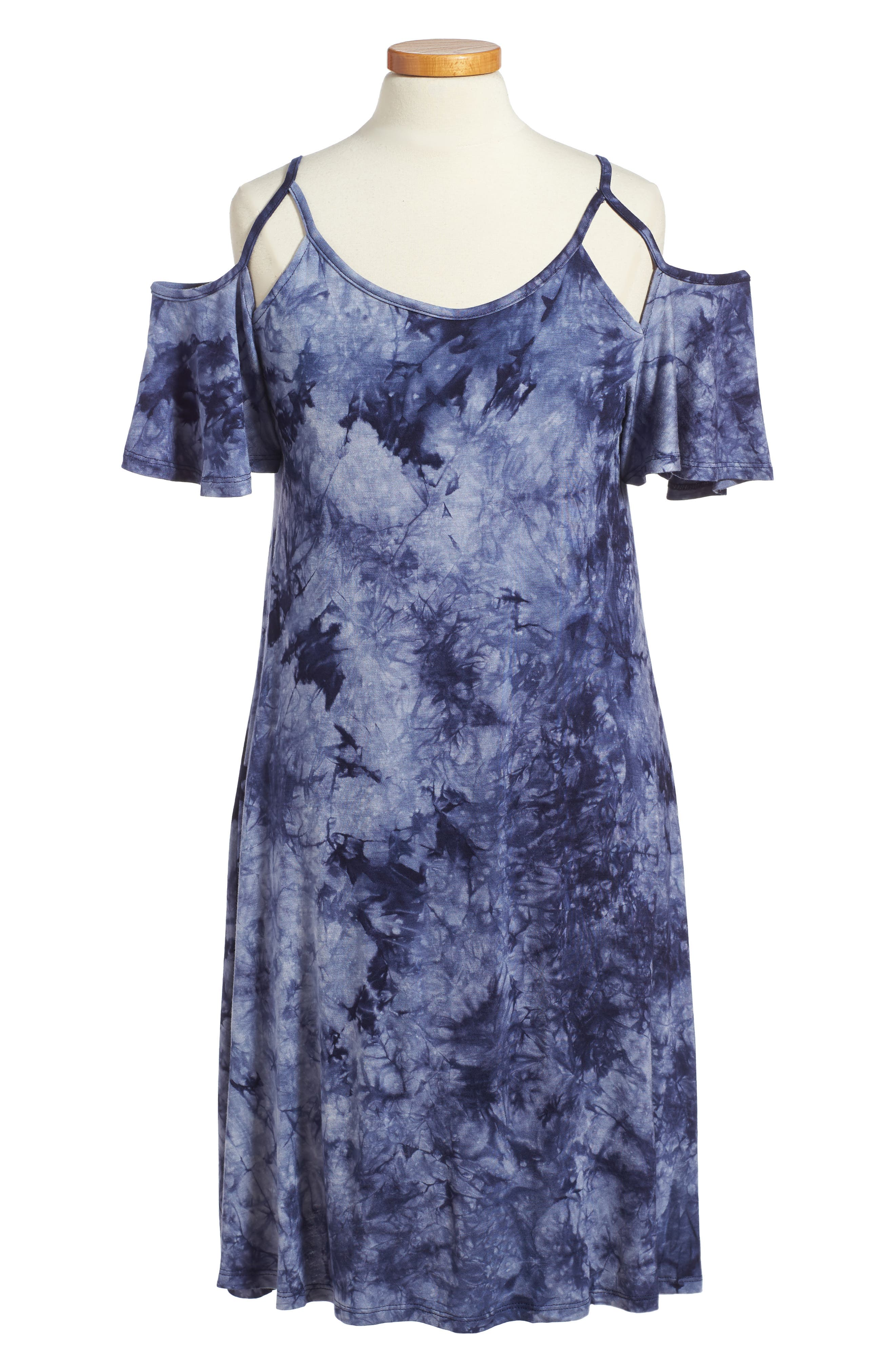 Main Image - Penelope Tree Regine Cold Shoulder Dress (Big Girls)