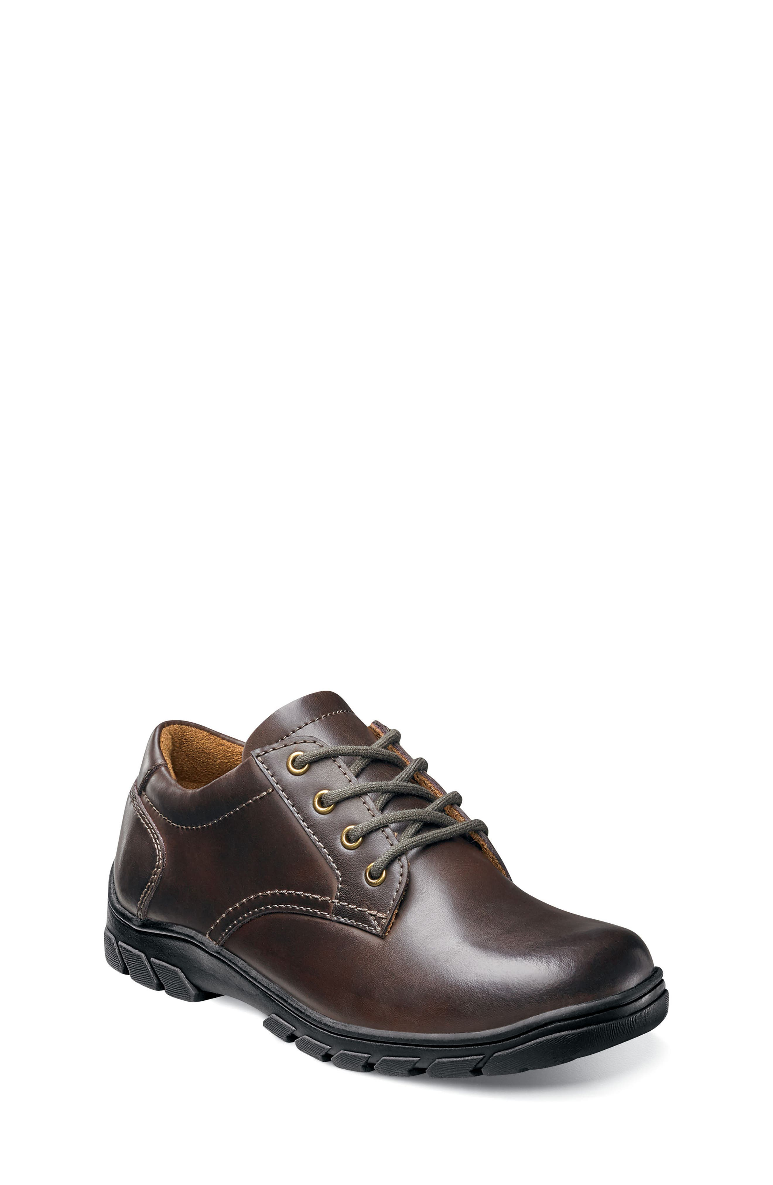 Getaway Plain Ox Jr Lace-Up,                         Main,                         color, Brown