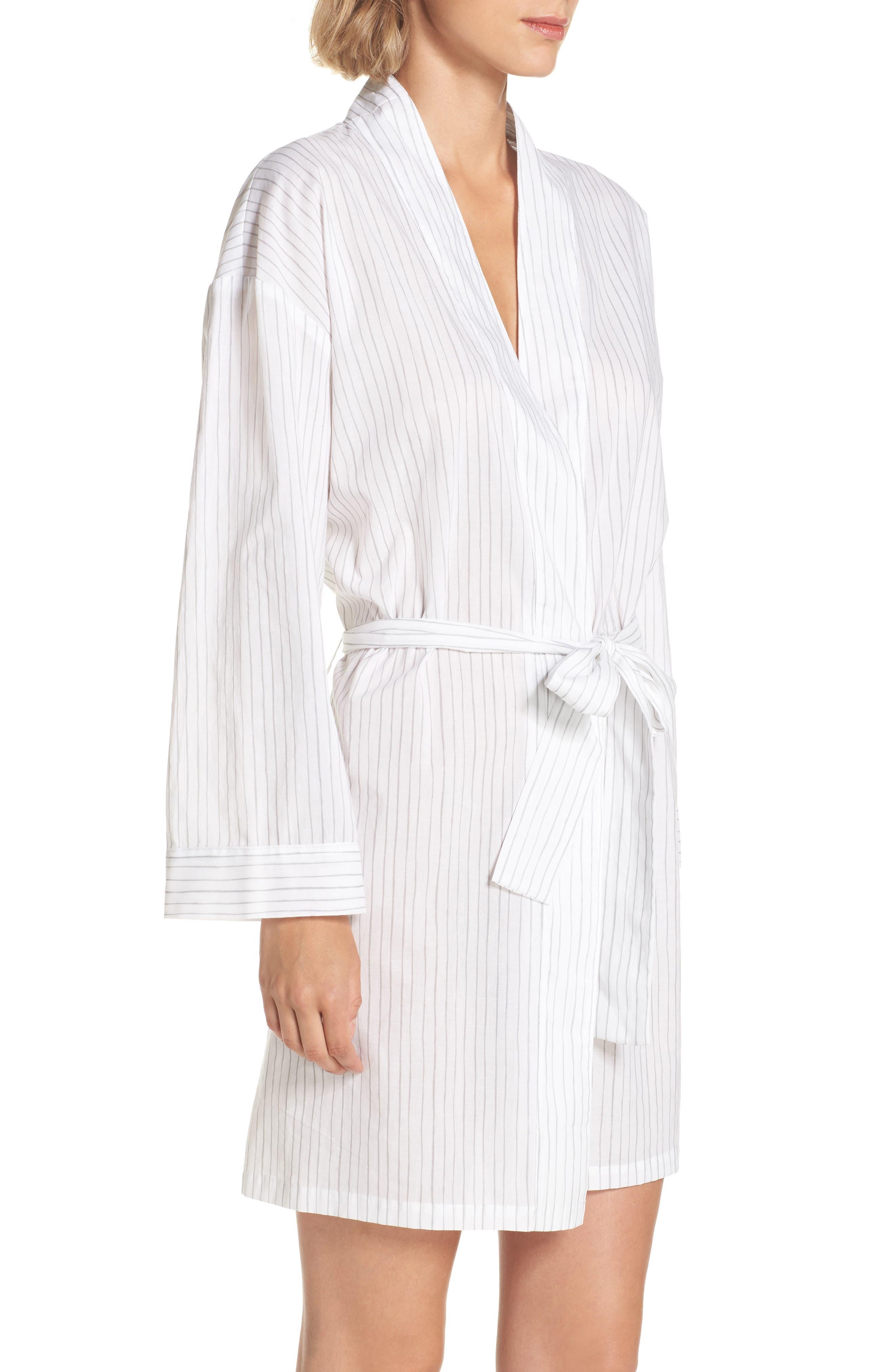 Alternate Image 4  - Pour Les Femmes Pinstripe Robe