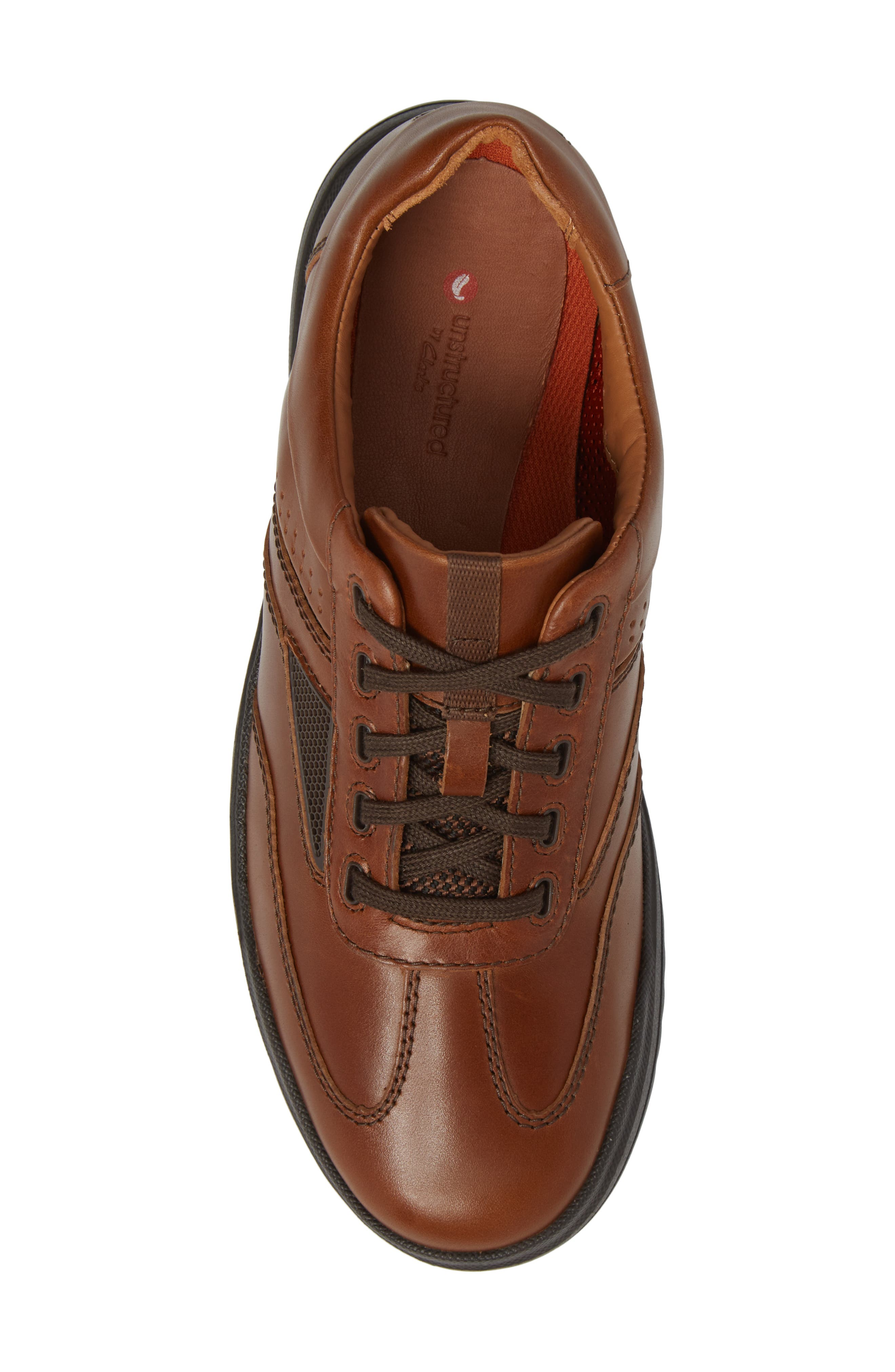 Un.Rhombus Fly Sneaker,                             Alternate thumbnail 4, color,                             Tan Leather
