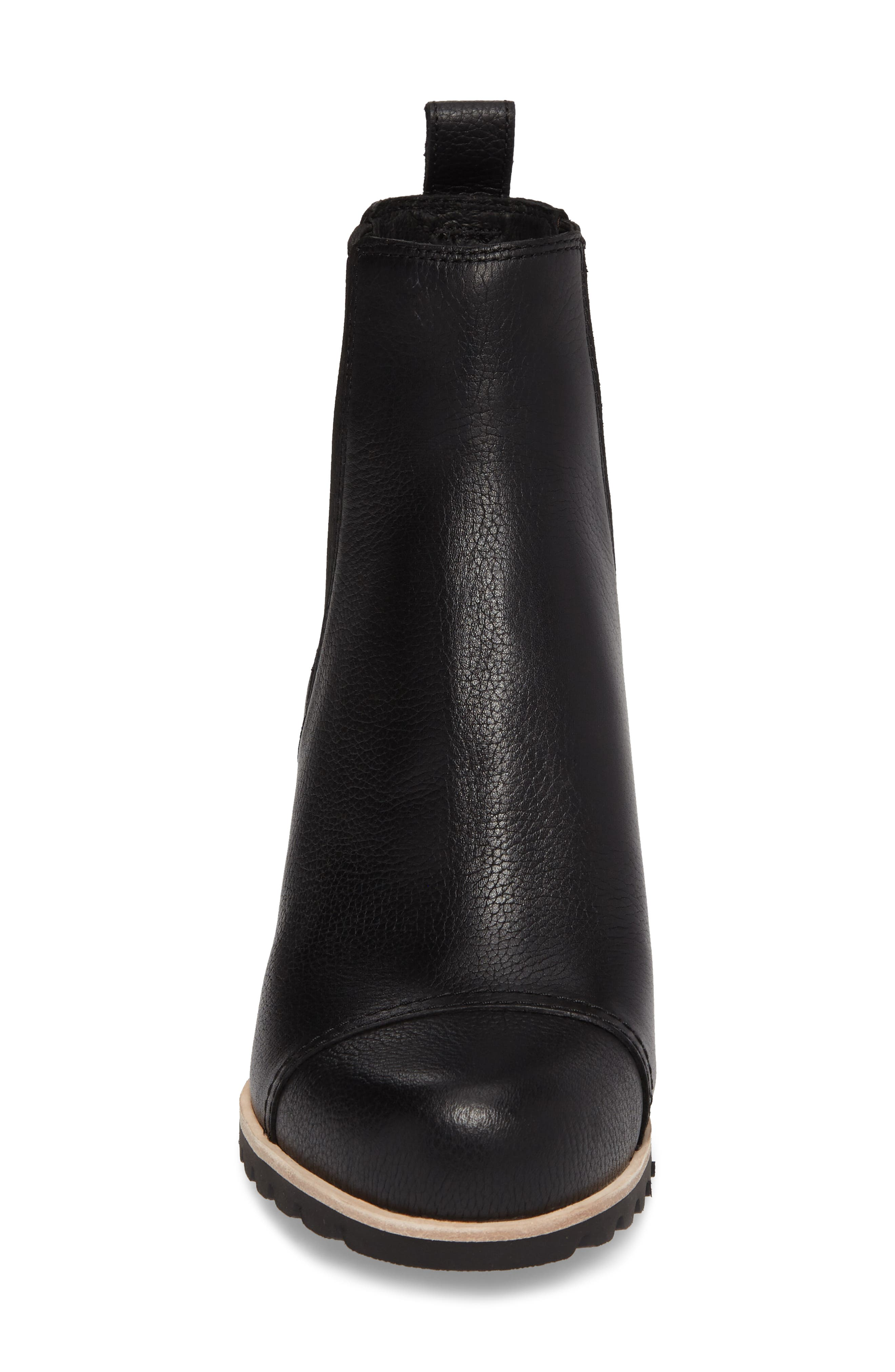 Pax Waterproof Wedge Boot,                             Alternate thumbnail 4, color,                             Black Leather