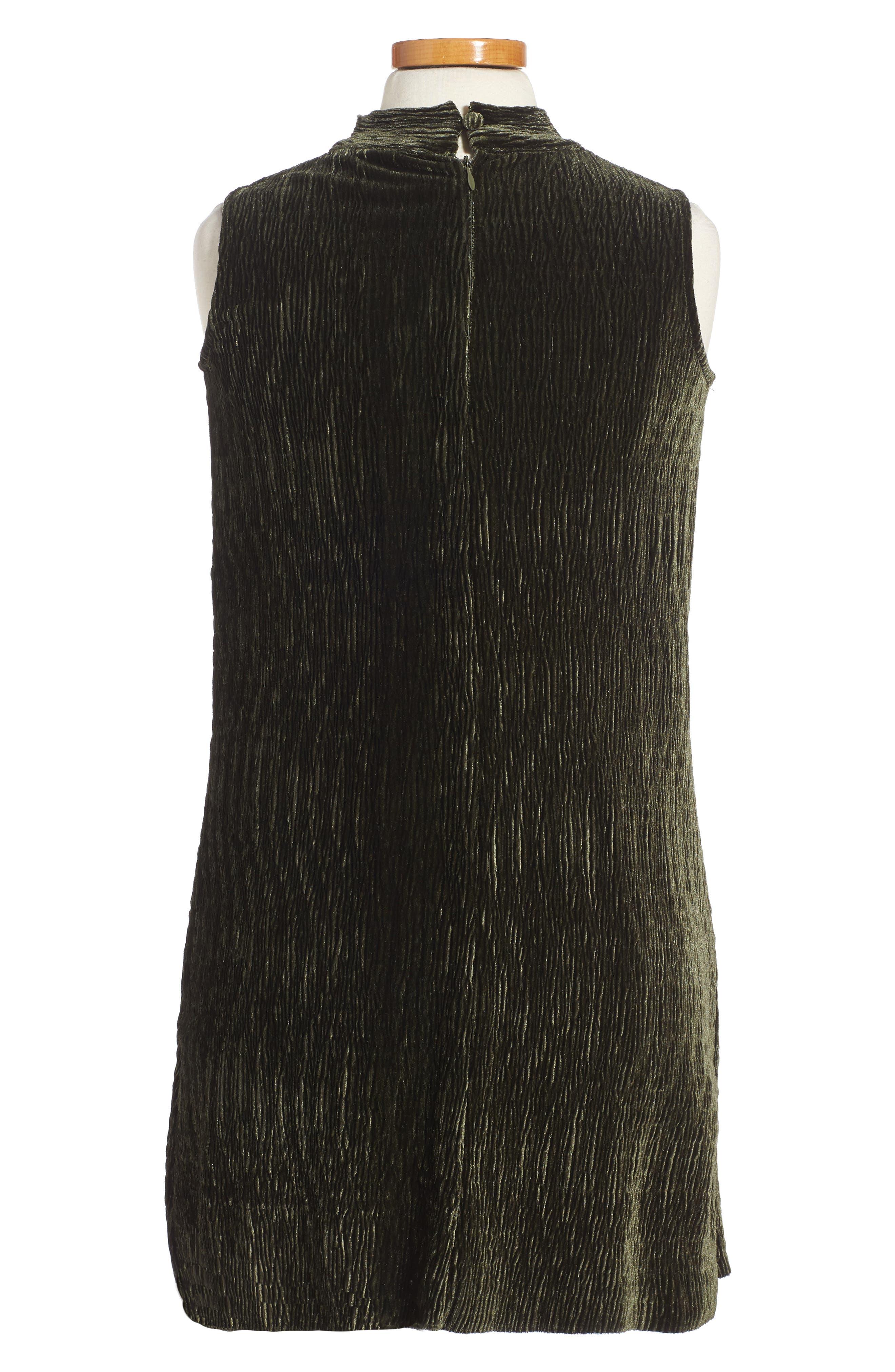 Mock Neck Dress,                             Alternate thumbnail 2, color,                             Olive