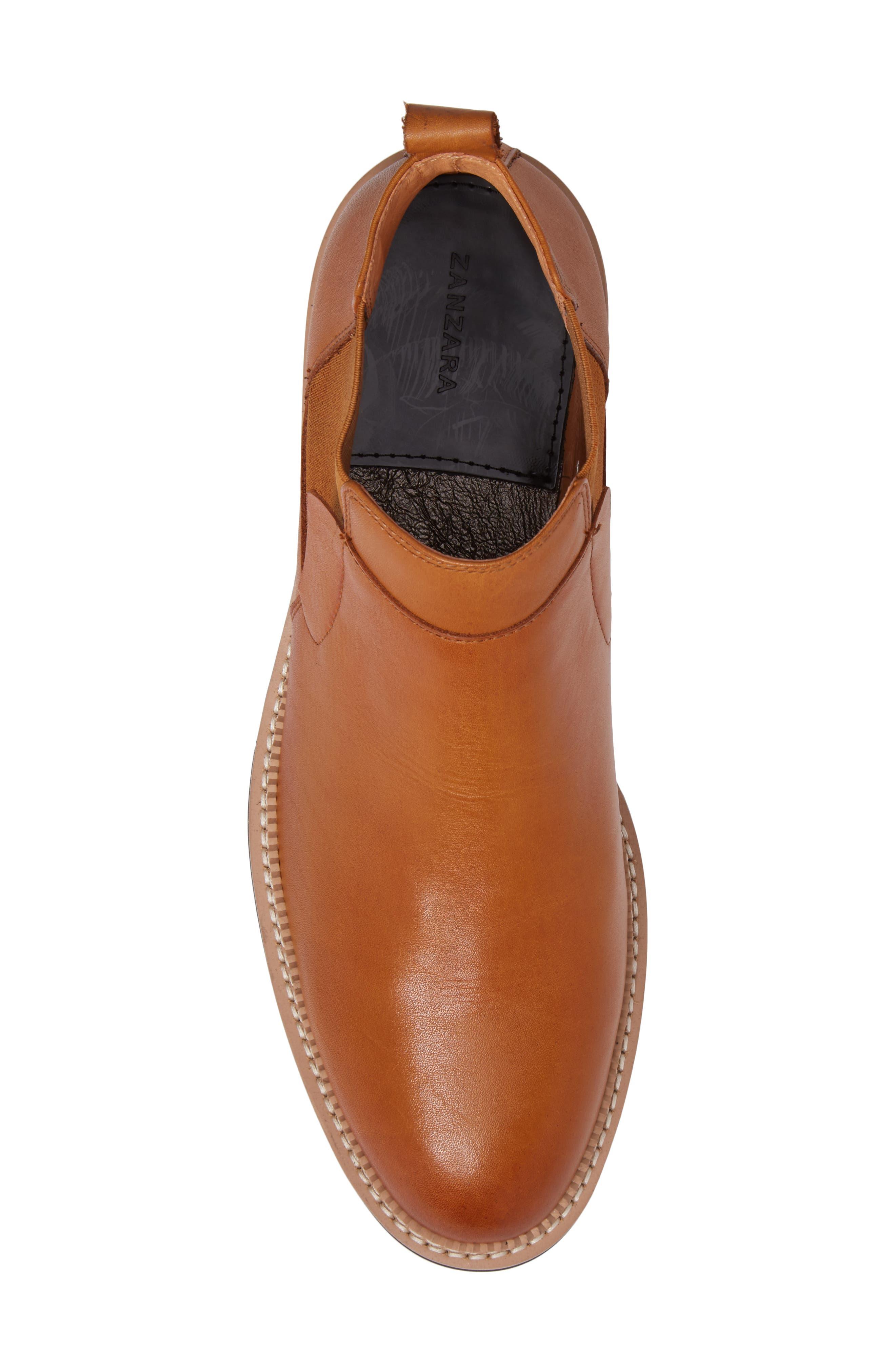 Garrad Chelsea Boot,                             Alternate thumbnail 5, color,                             Cognac Leather