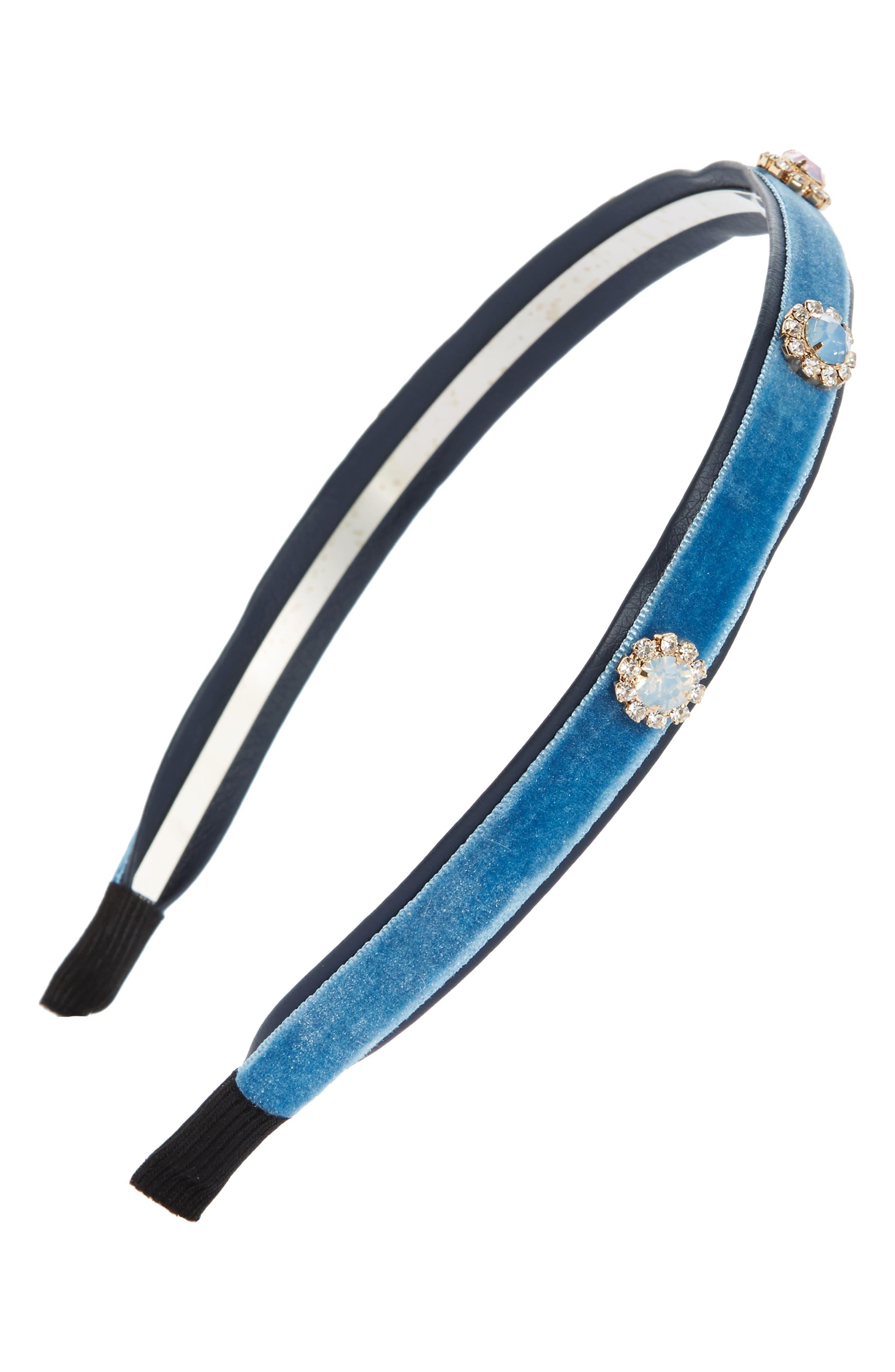 Main Image - Cara Embellished Velvet Headband