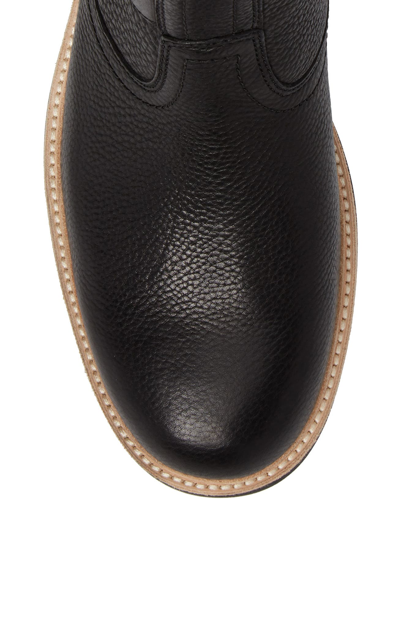Jaren Zip Boot with Genuine Shearling,                             Alternate thumbnail 5, color,                             Black
