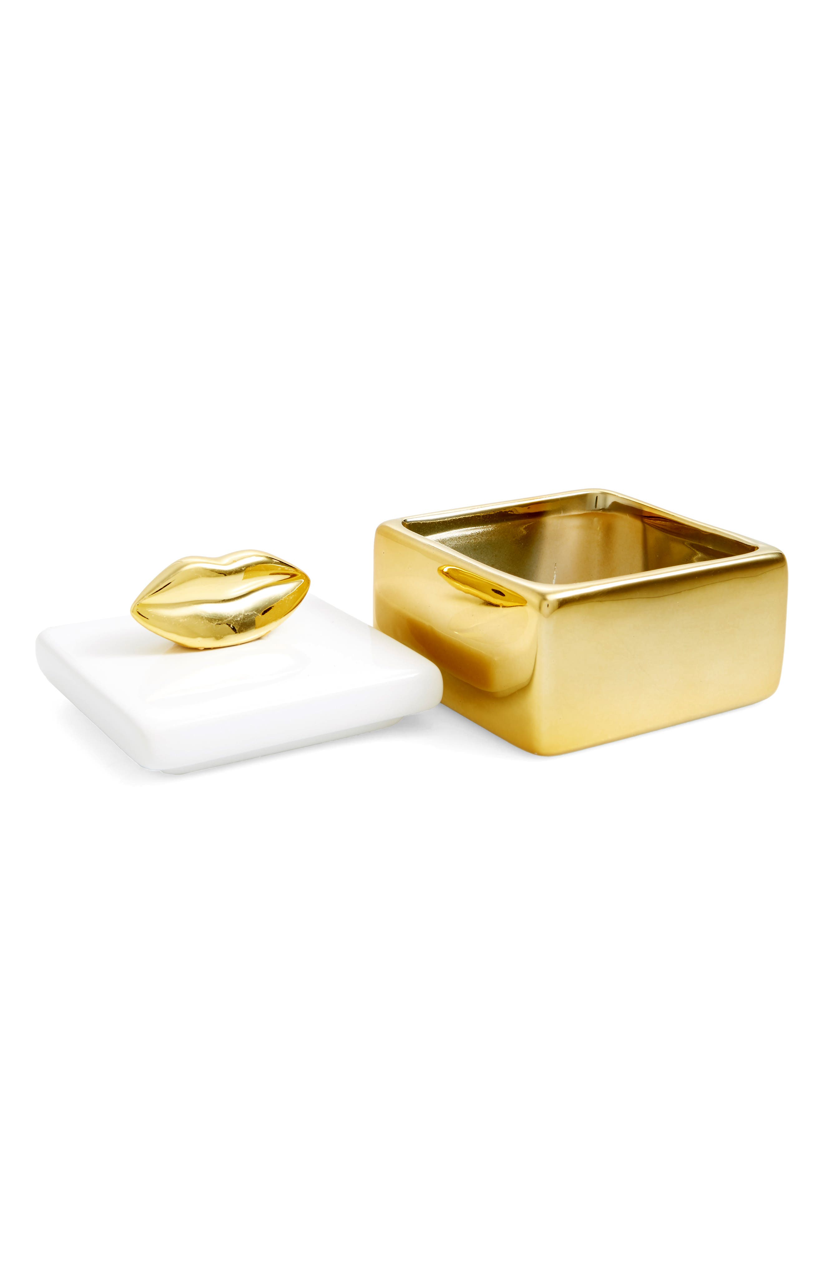 Lips Trinket Box,                             Alternate thumbnail 2, color,                             Gold