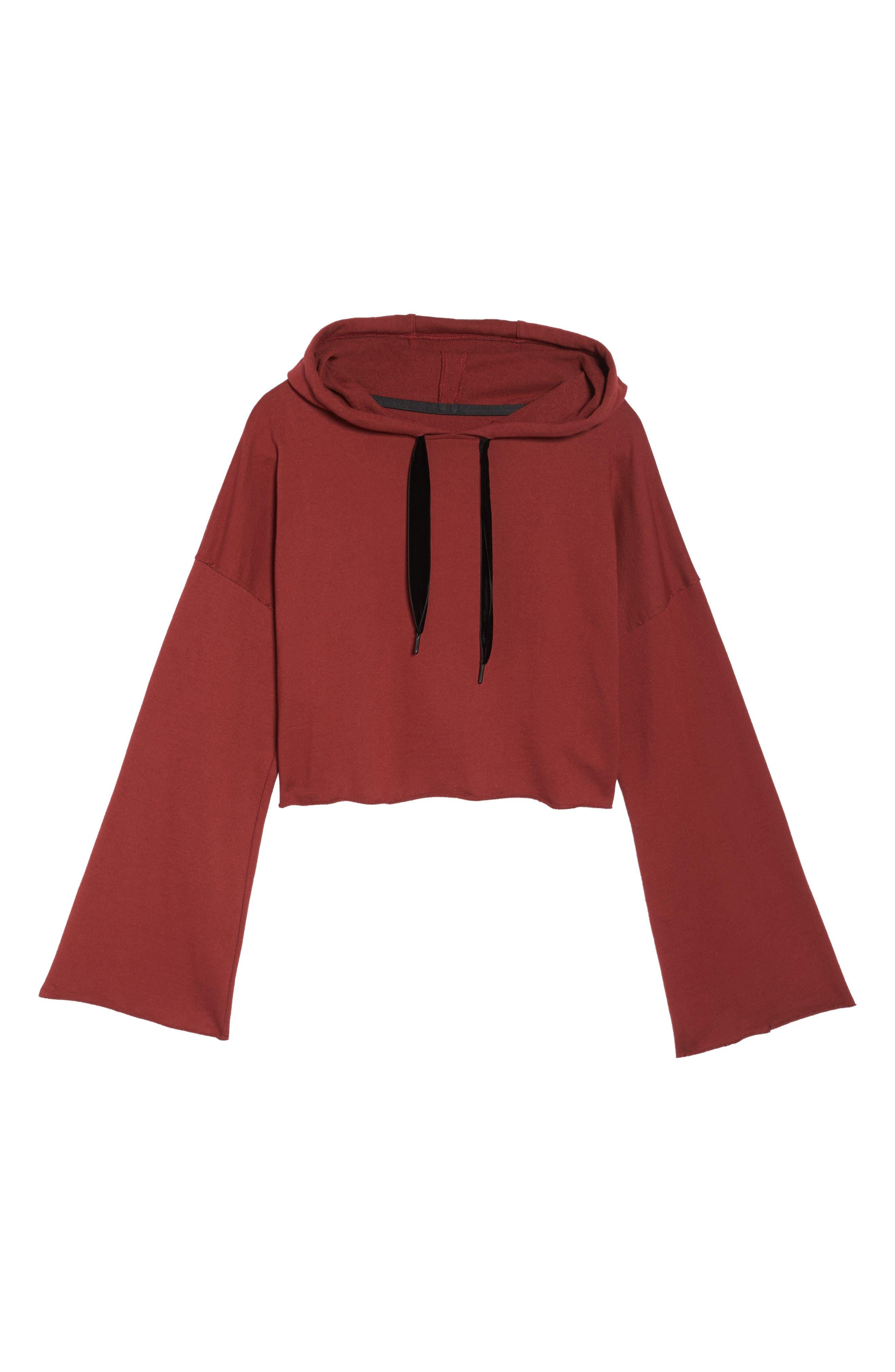 Alternate Image 6  - Alala Stance Bell Sleeve Crop Hoodie