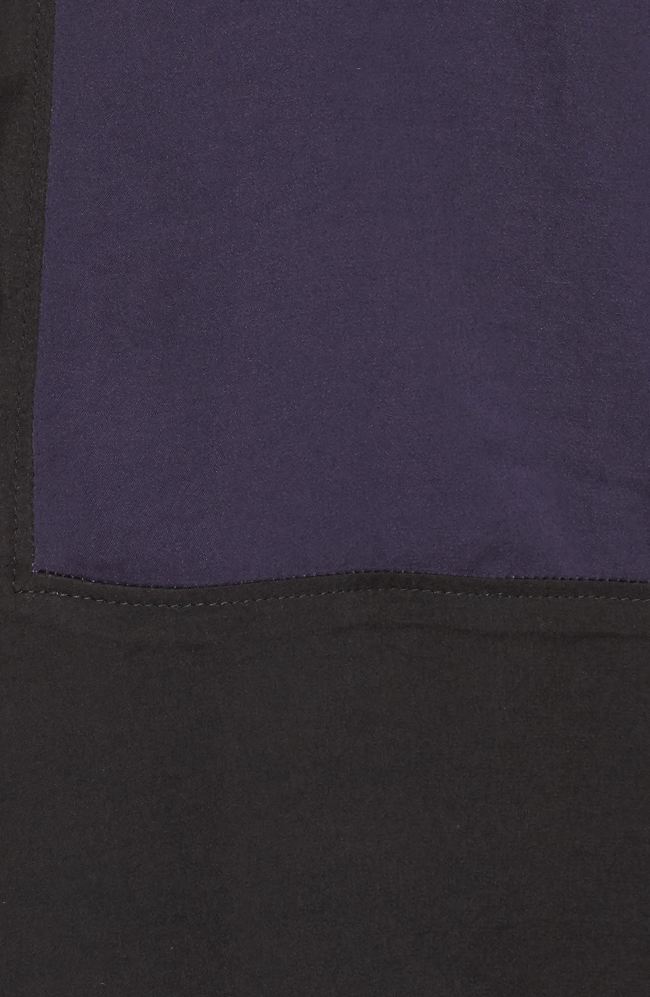 Colorblock Washed Satin Top,                             Alternate thumbnail 7, color,                             Plum
