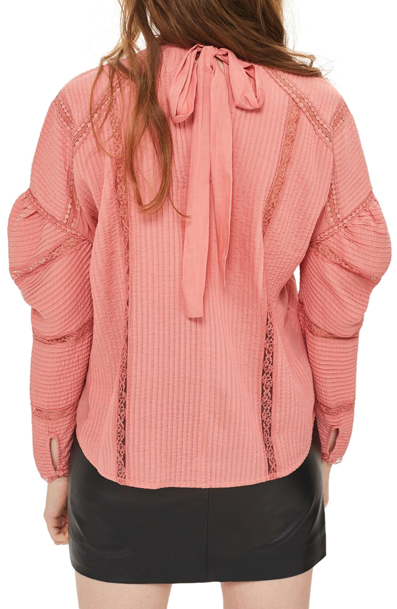 Alternate Image 2  - Topshop Statement Sleeve Pintuck Blouse