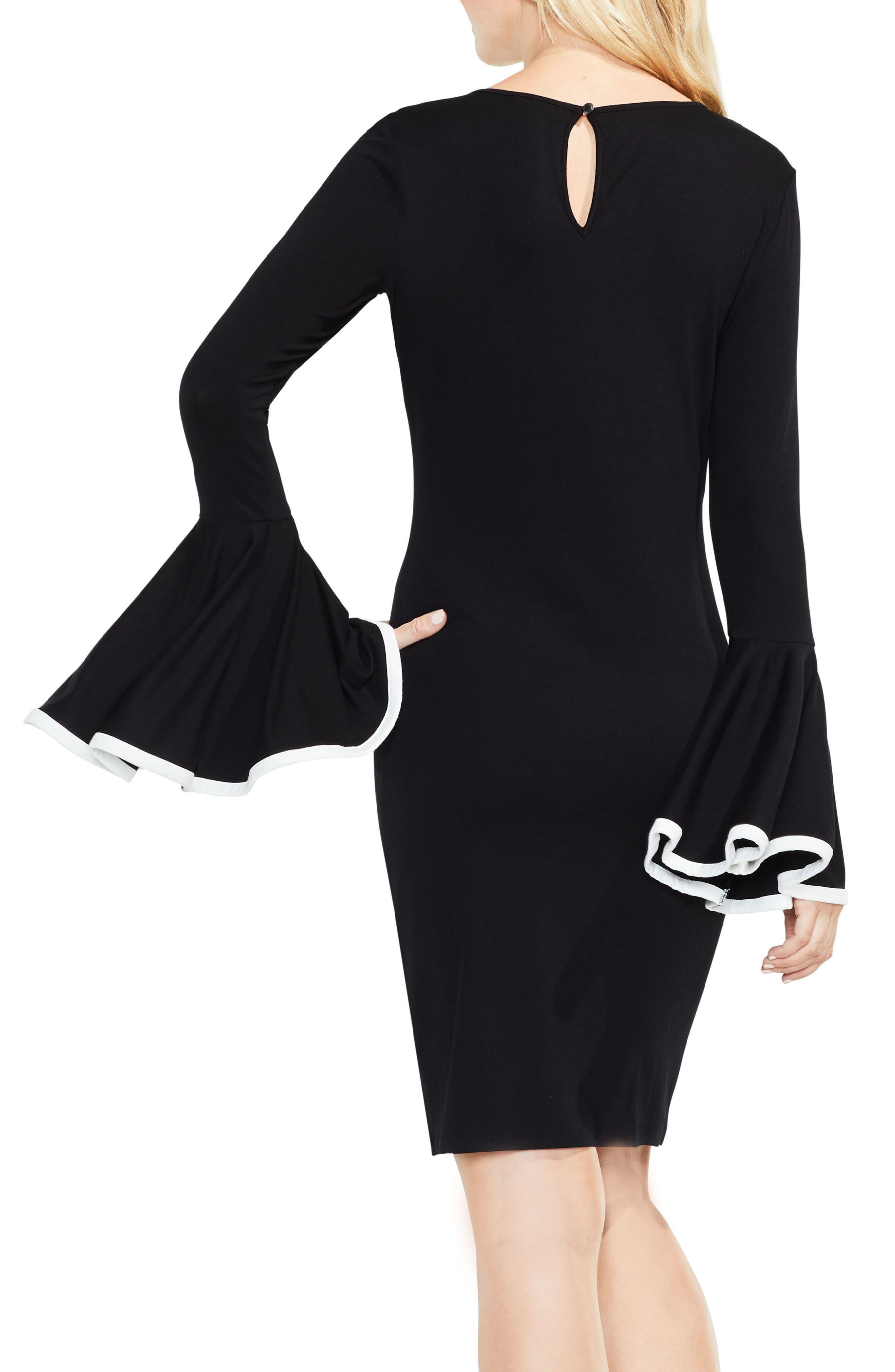 Circle Cuff Dress,                             Alternate thumbnail 3, color,                             Rich Black