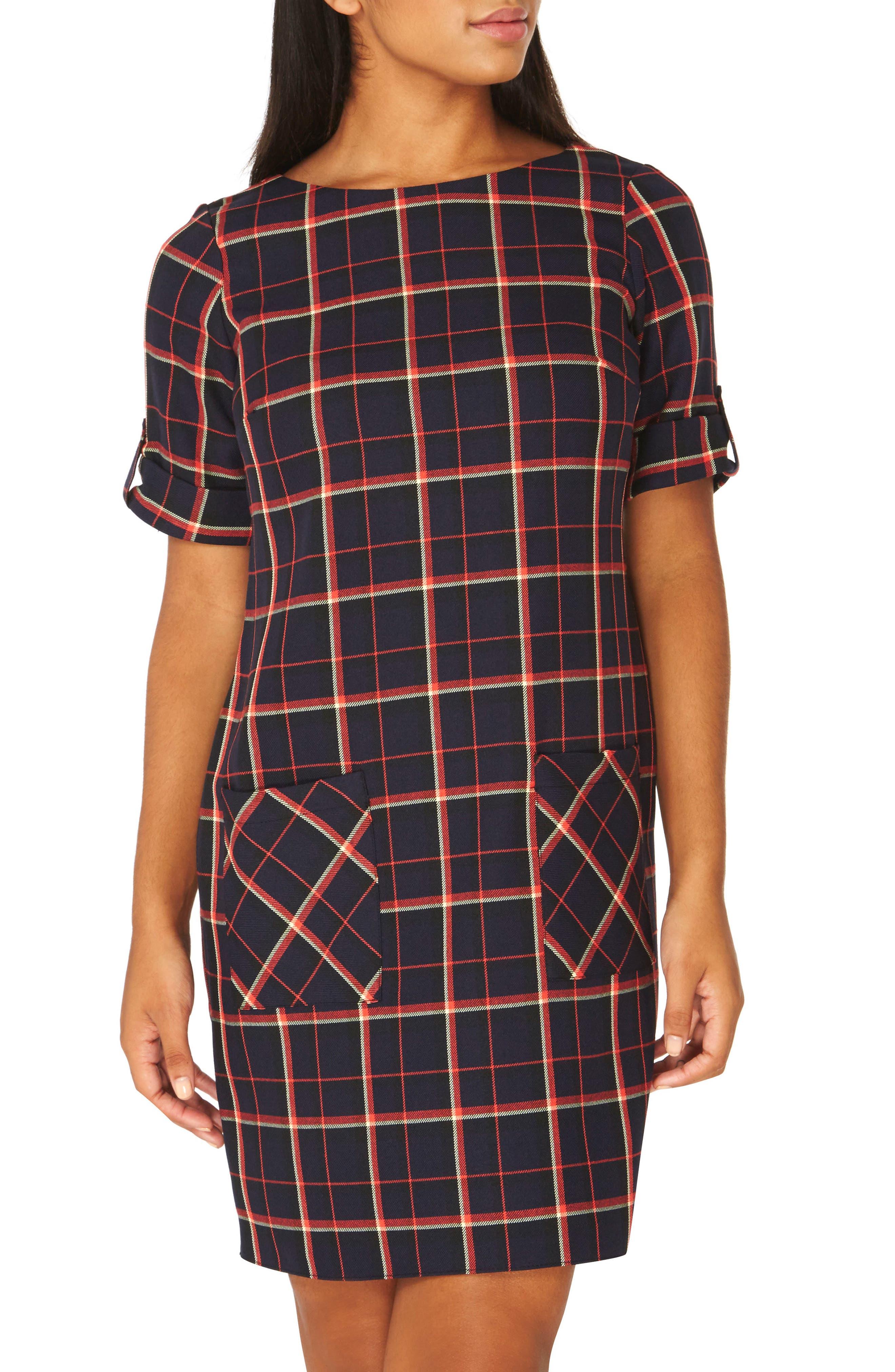 Alternate Image 1 Selected - Dorothy Perkins Check Shift Dress