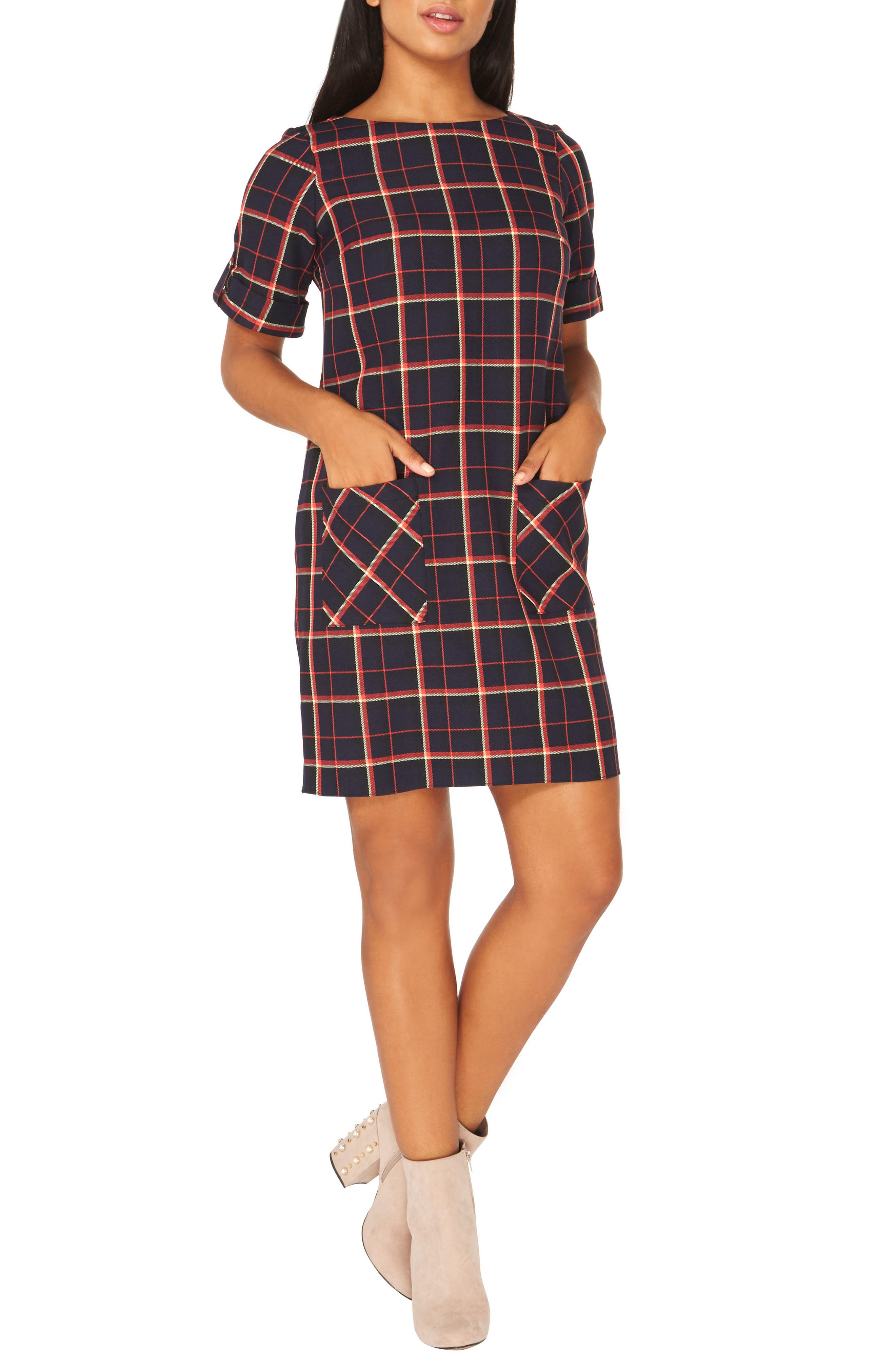 Alternate Image 3  - Dorothy Perkins Check Shift Dress