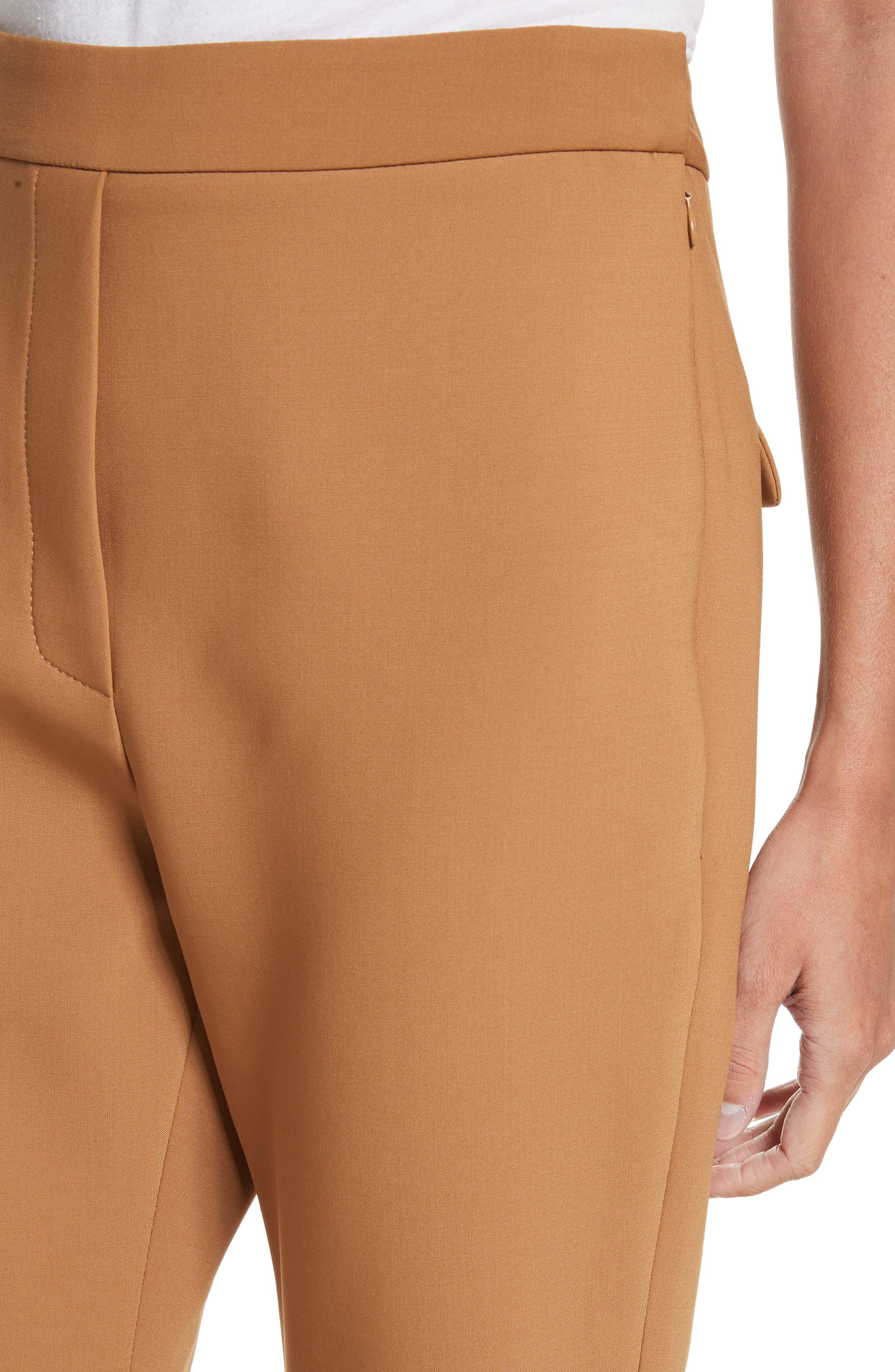 Fourth Element Crop Flare Pants,                             Alternate thumbnail 4, color,                             Camel