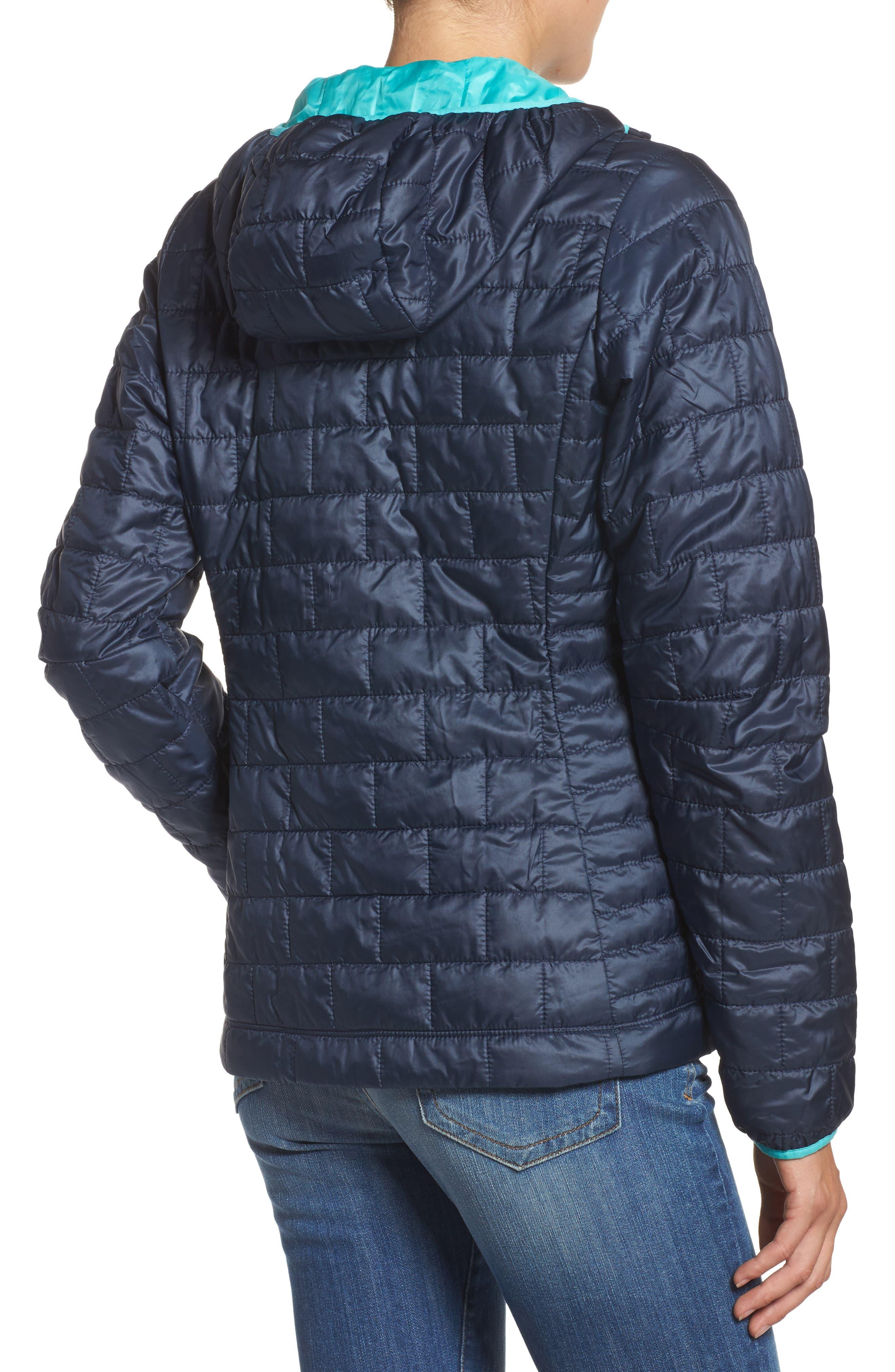 Nano Puff<sup>®</sup> Bivy Water Resistant Jacket,                             Alternate thumbnail 2, color,                             Navy Blue W/ Strait Blue