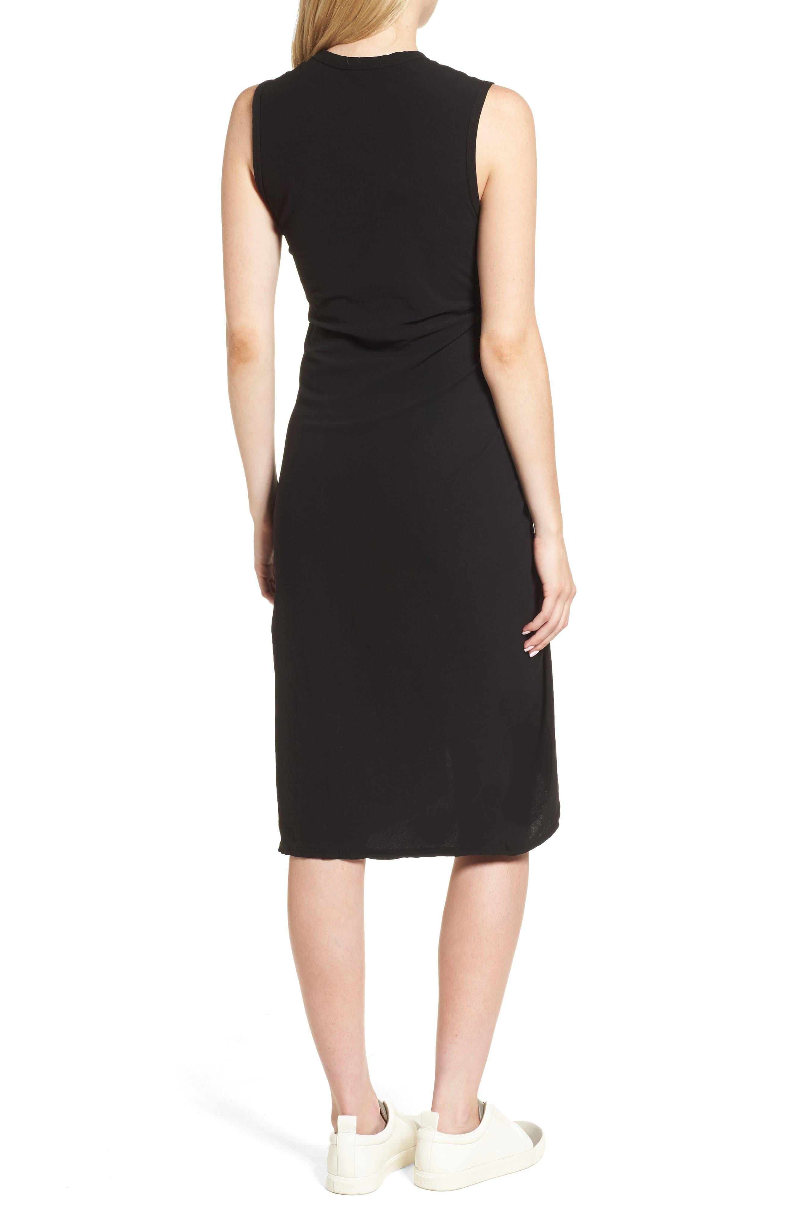 Spiral Shirred Sheath Dress,                             Alternate thumbnail 2, color,                             Black