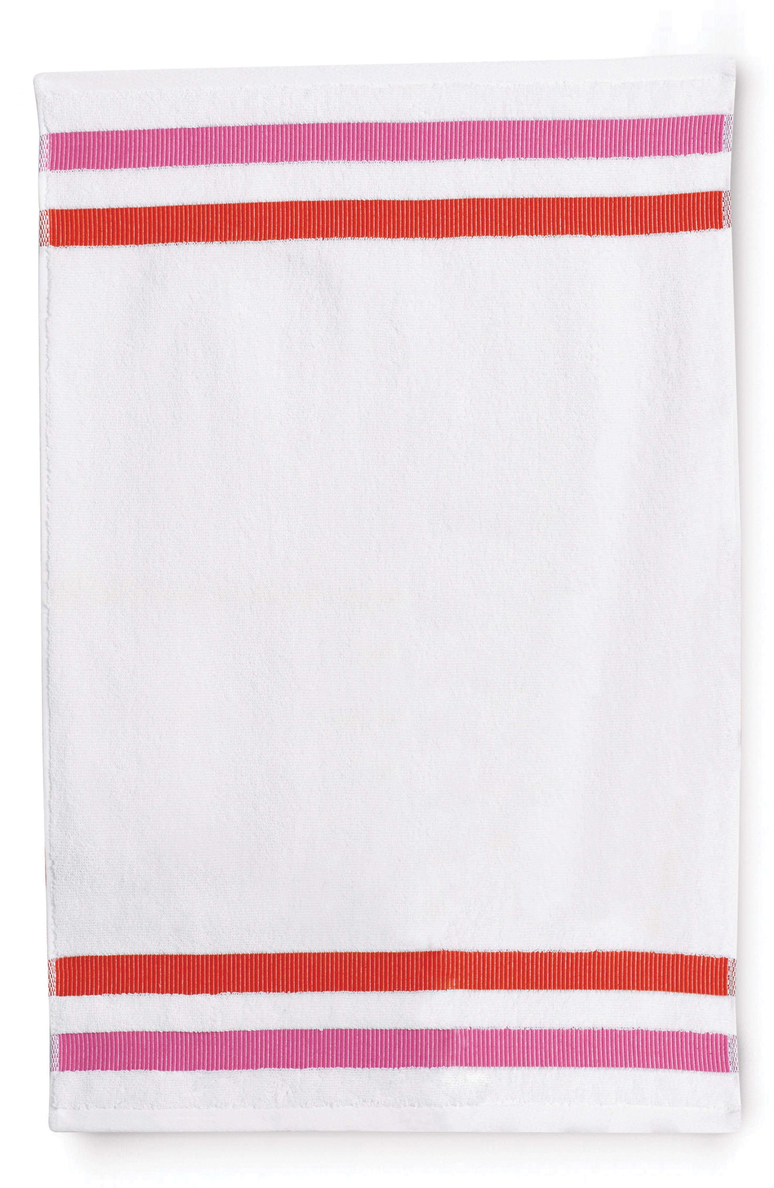 kate spade new york grosgrain stripe fingertip towel