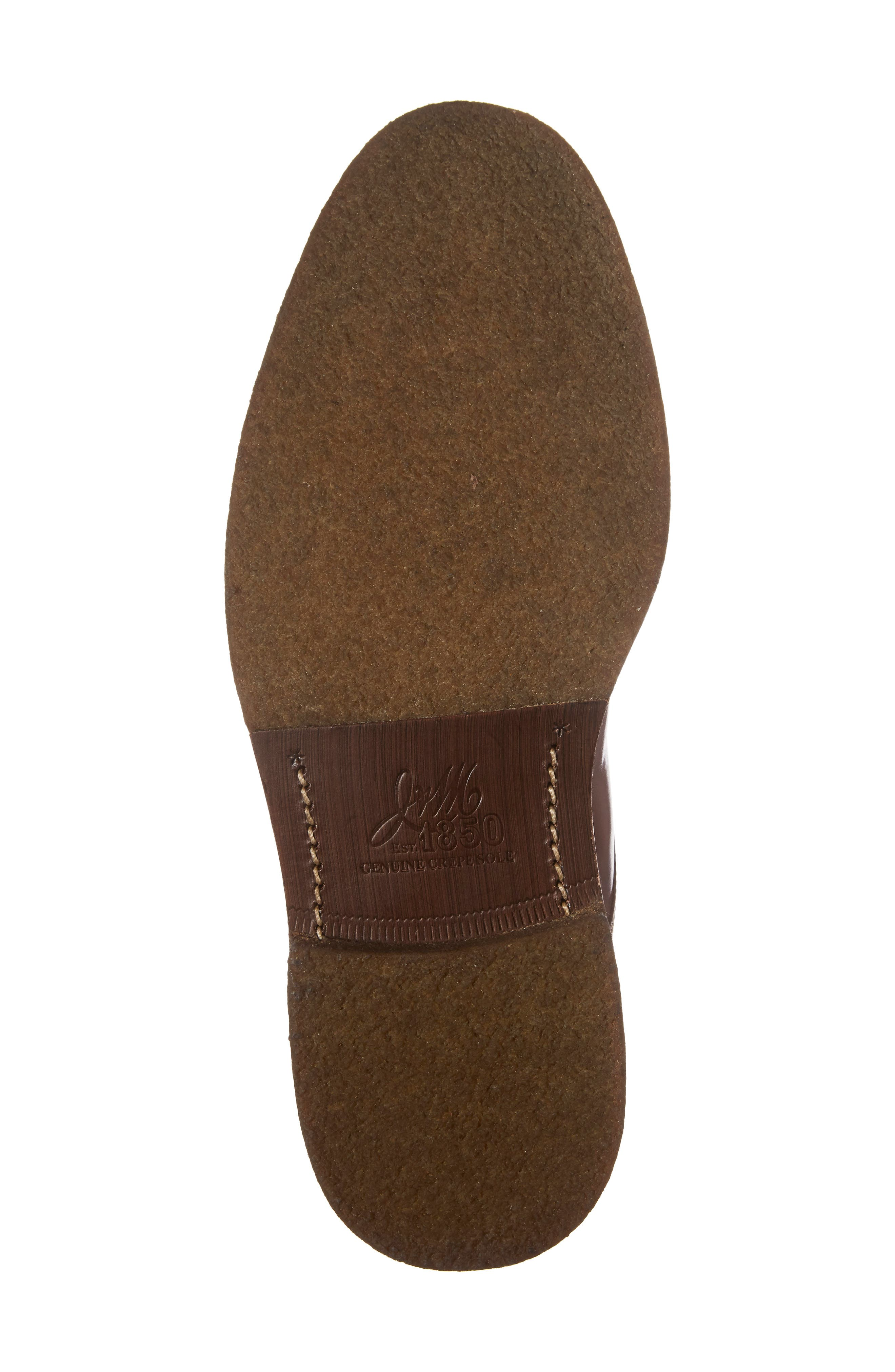 Forrester Cap Toe Boot,                             Alternate thumbnail 6, color,                             Mahogany Leather