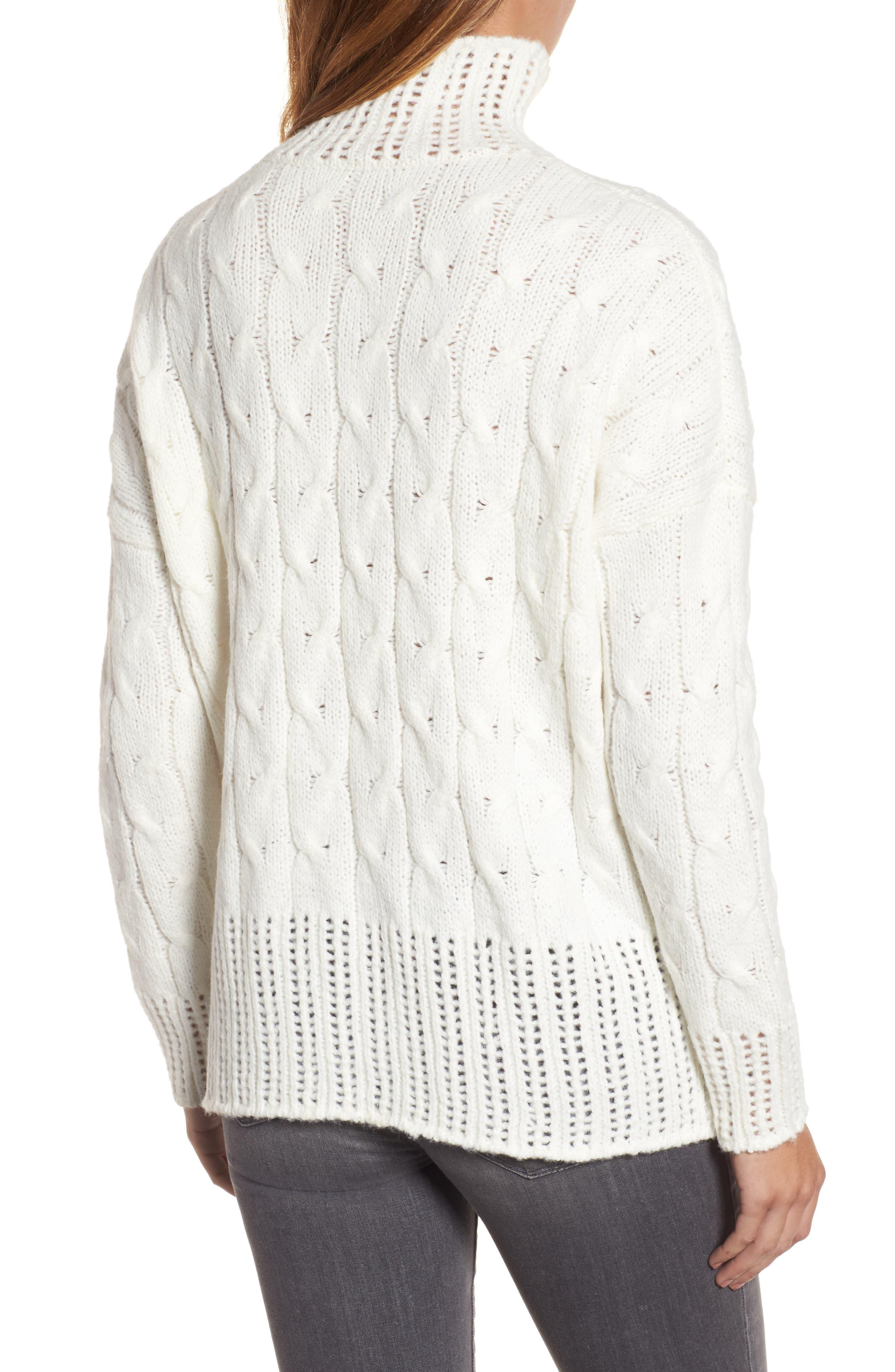 Alternate Image 2  - Press Pointelle Turtleneck Sweater