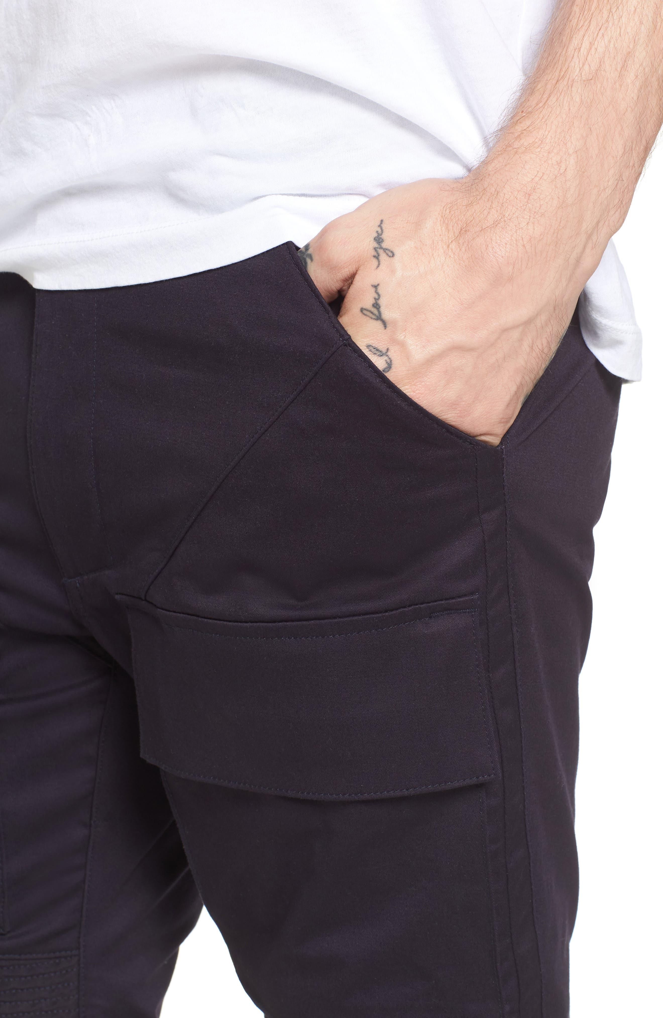 Vodan DC Slim Pants,                             Alternate thumbnail 4, color,                             Dark Naval Blue