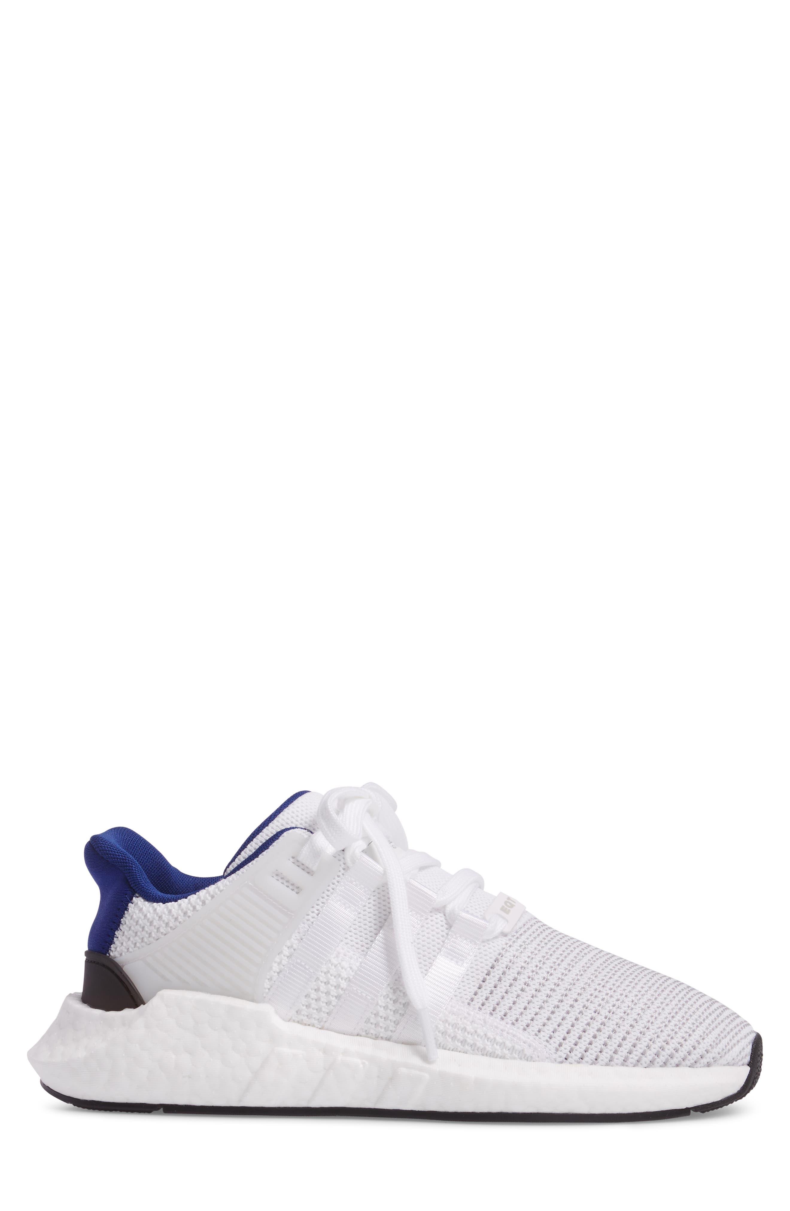 EQT Support 93/17 Sneaker,                             Alternate thumbnail 3, color,                             White/ White/ Core Black