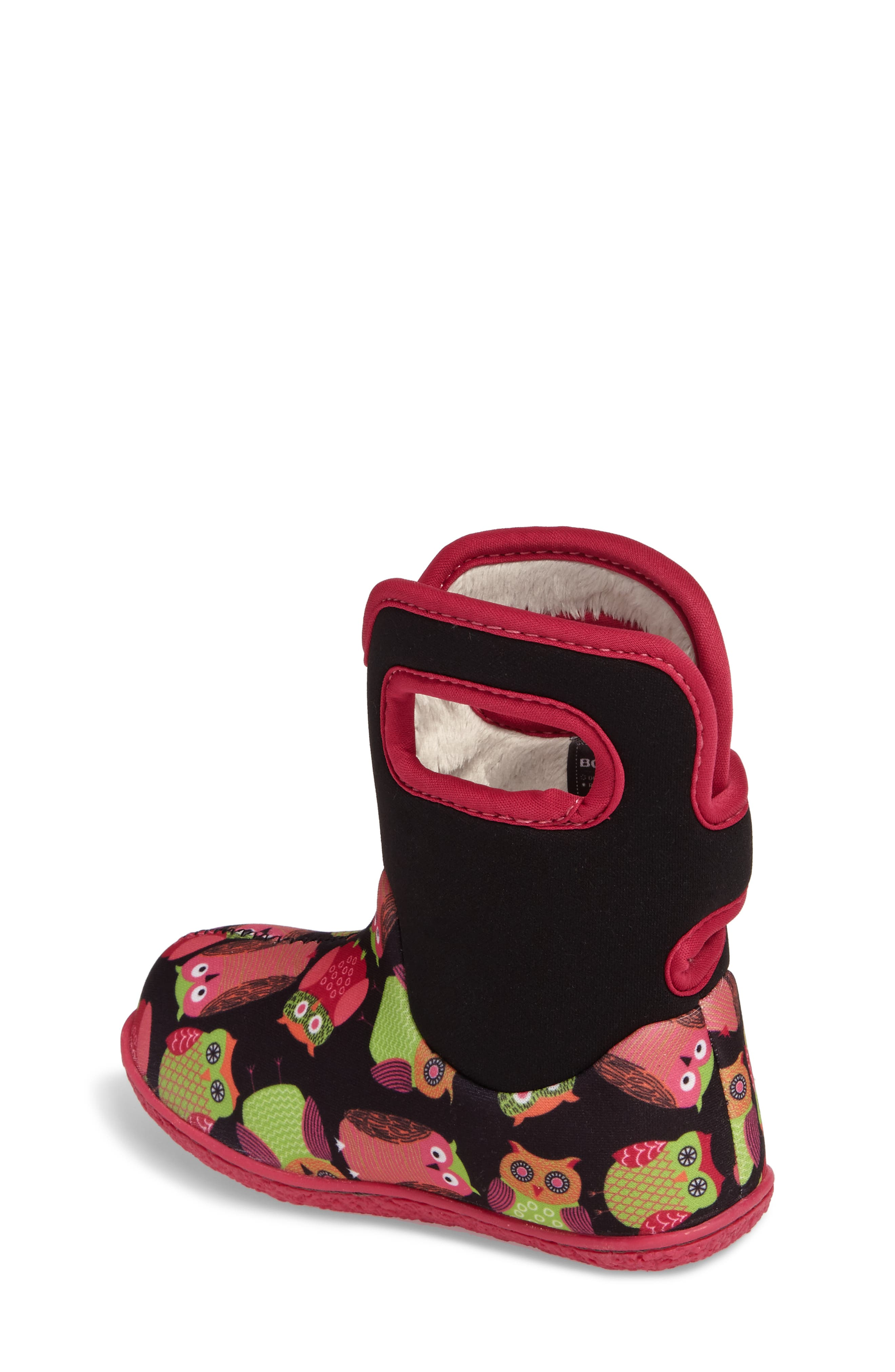 Baby Bogs Classic Owls Insulated Waterproof Boot,                             Alternate thumbnail 2, color,                             Black Multi
