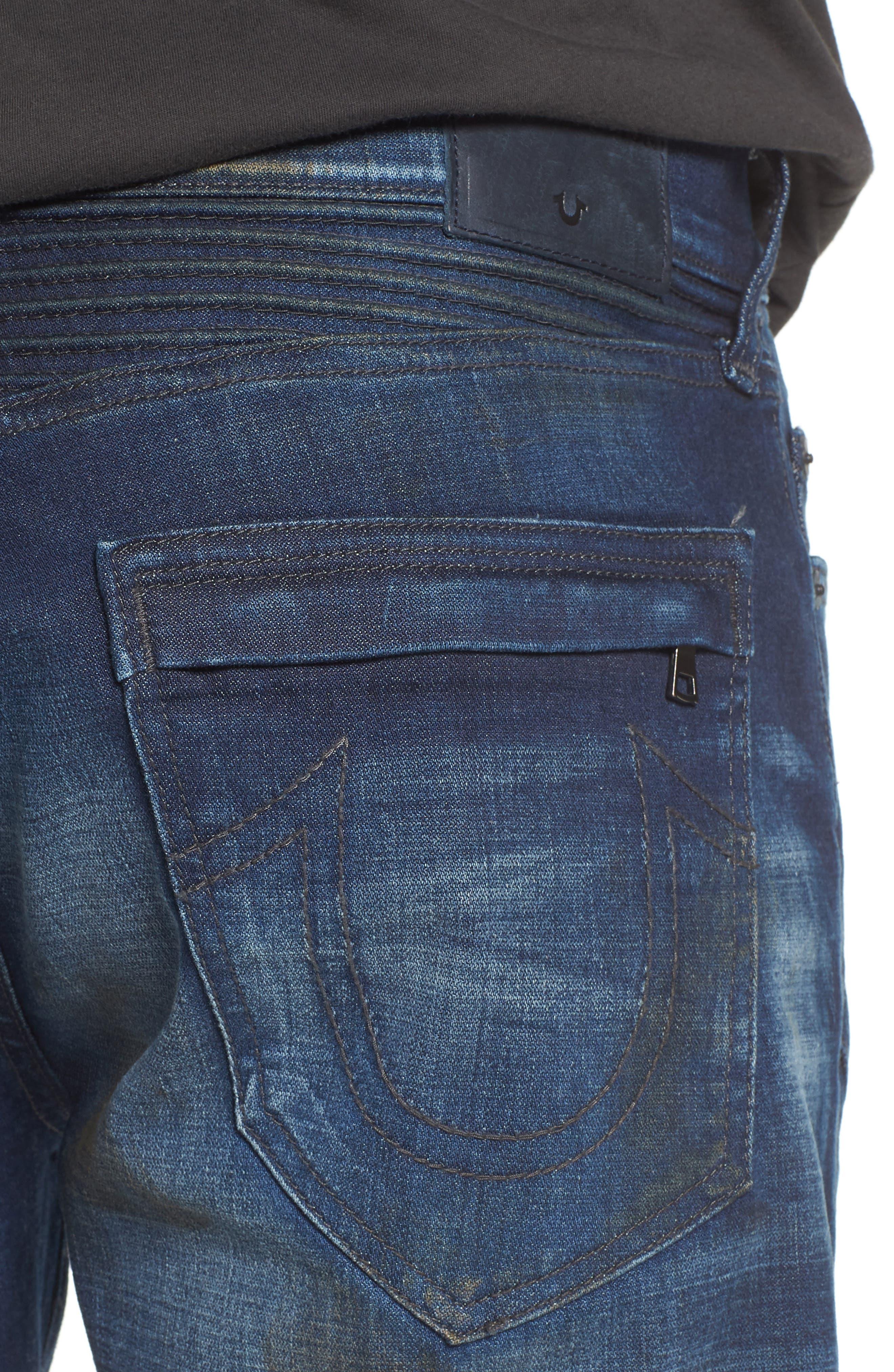 Geno Straight Leg Jeans,                             Alternate thumbnail 4, color,                             Fragment Shadow