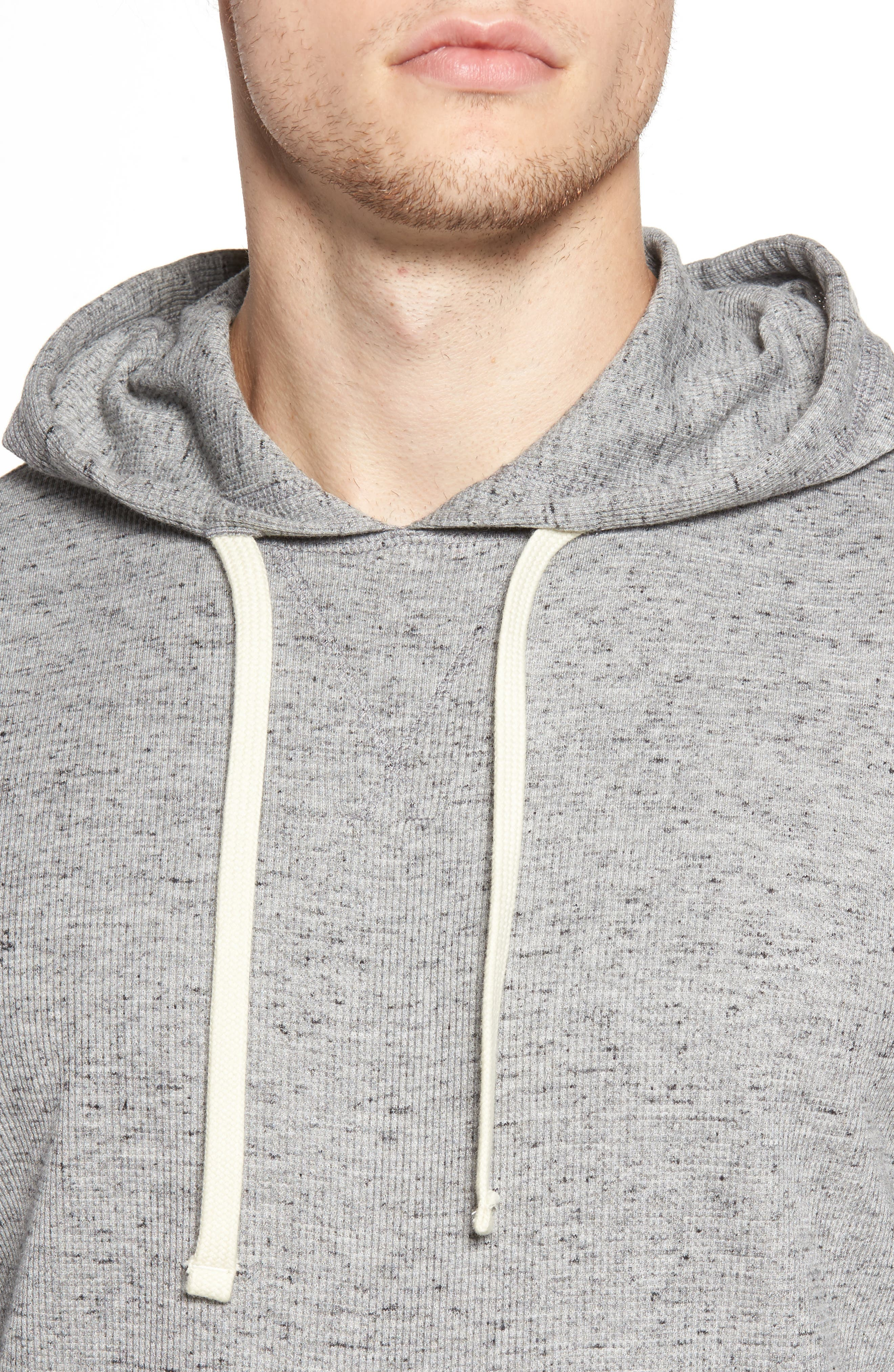 Boldin Thermal Pullover Hoodie,                             Alternate thumbnail 4, color,                             Light Grey
