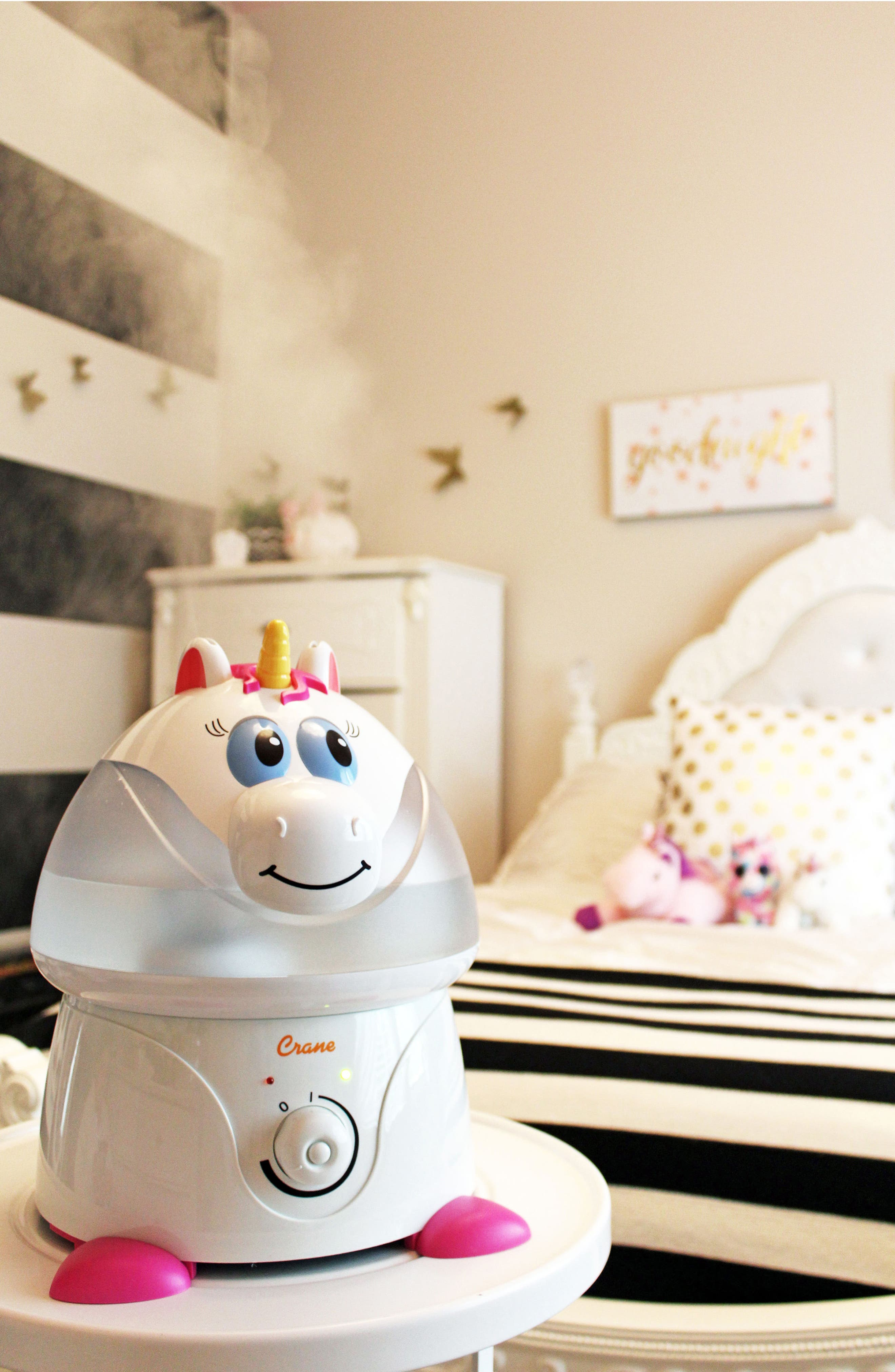 Unicorn Ultrasonic Cool-Mist Humidifier,                             Alternate thumbnail 3, color,                             White