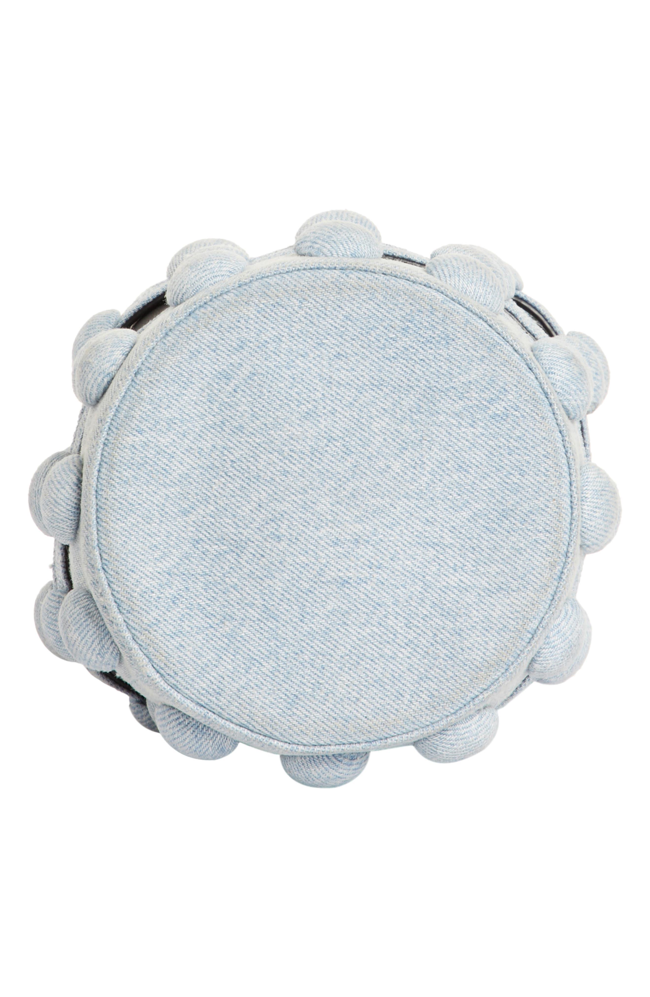 Alternate Image 6  - Alexander Wang Mini Roxy Denim Cage Leather Bucket Bag
