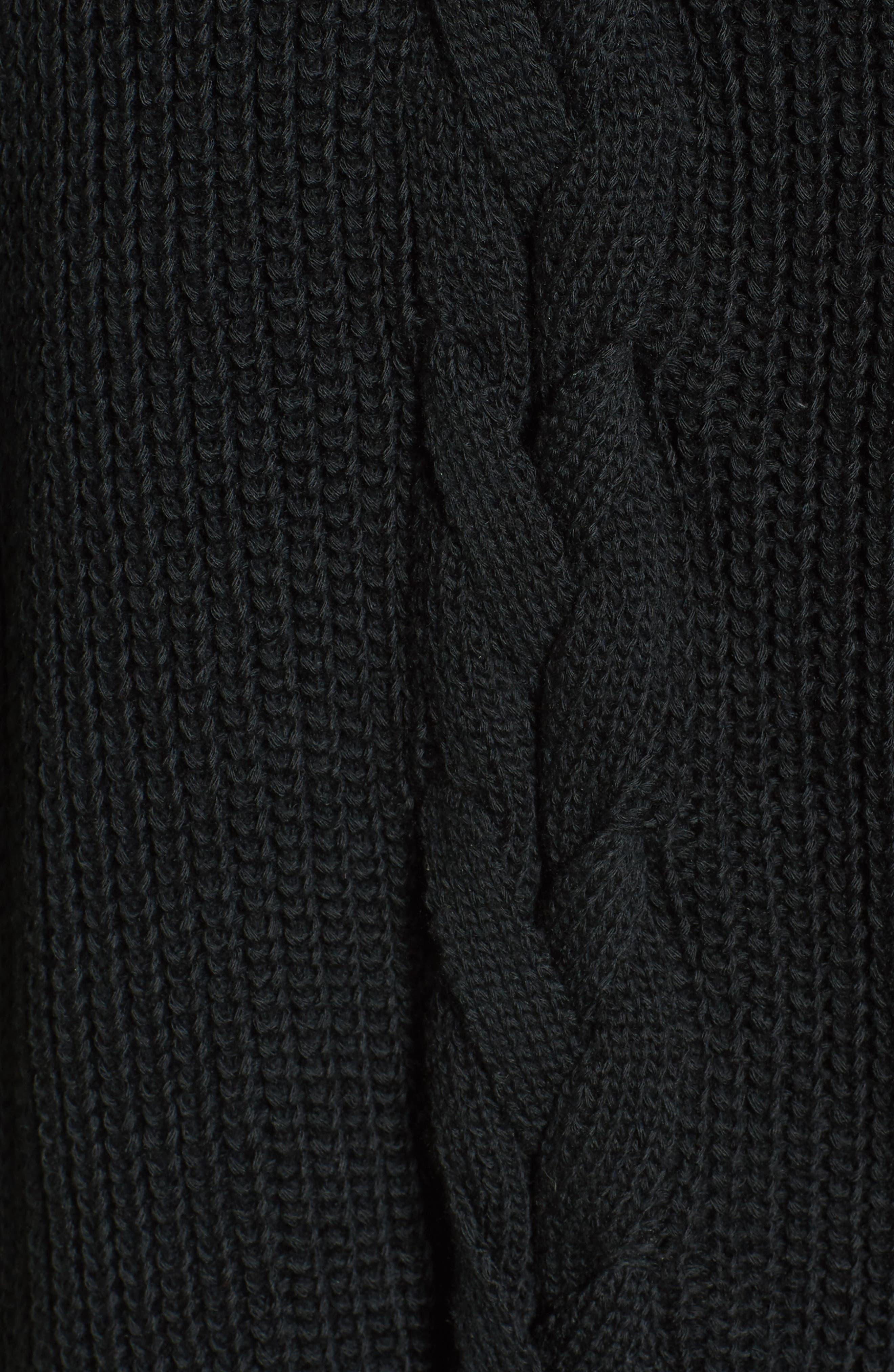 Cyndi Sweater,                             Alternate thumbnail 6, color,                             Black