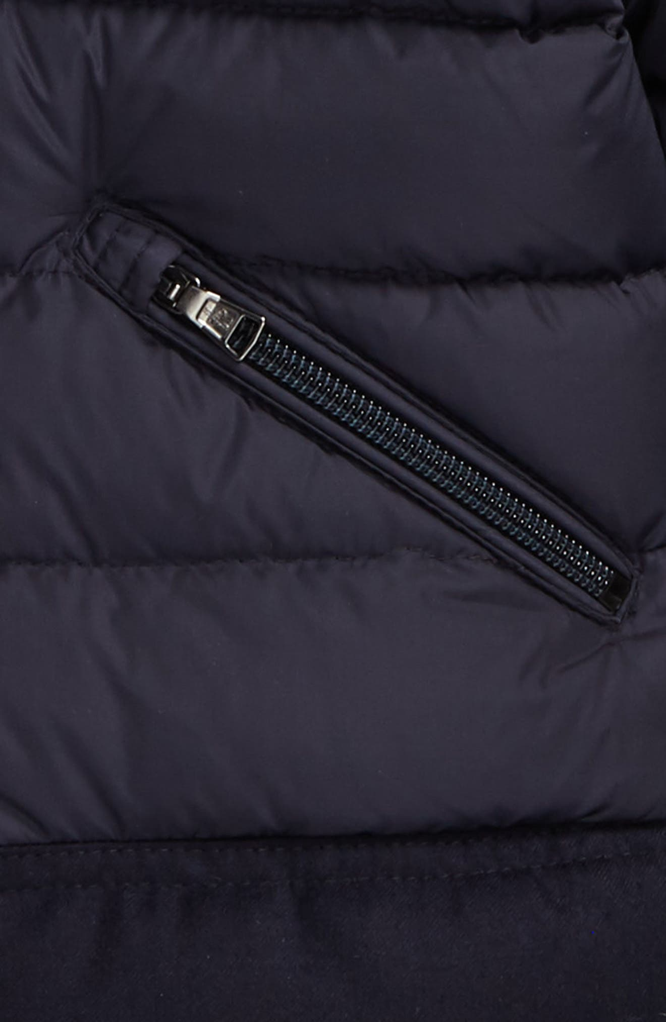 Hector Hooded Down Jacket,                             Alternate thumbnail 2, color,                             Navy