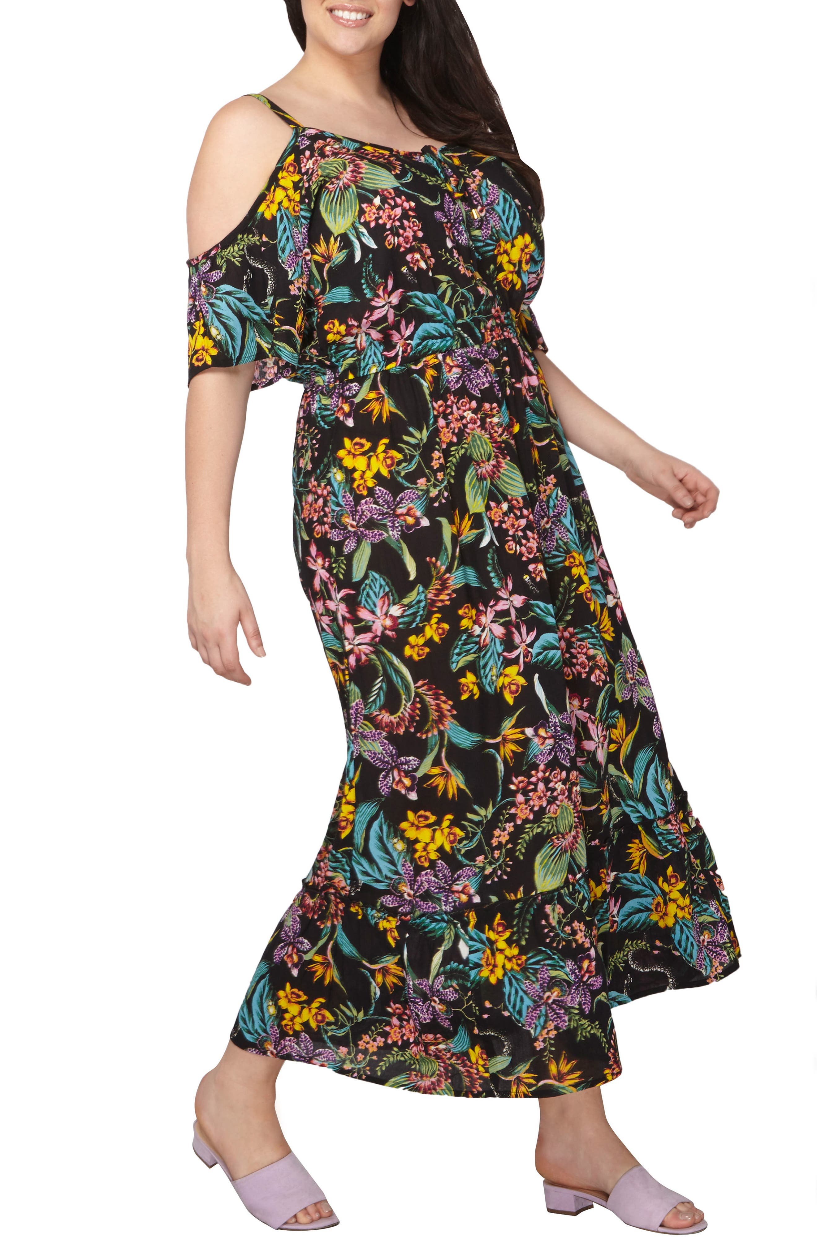 Dorothy Perkins Off the Shoulder Maxi Dress (Plus Size)