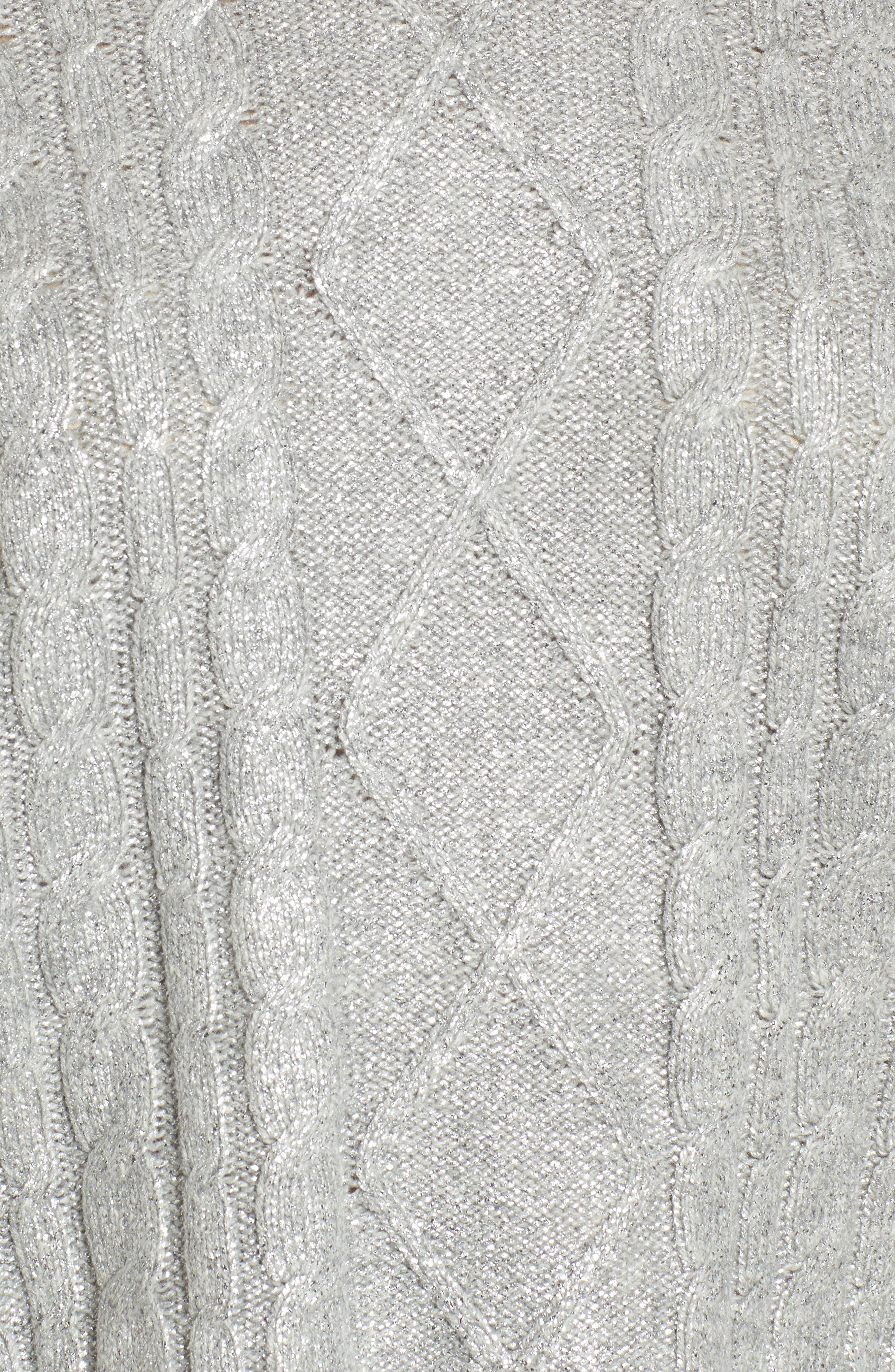Alternate Image 5  - BP. Metallic Cable Knit Sweater