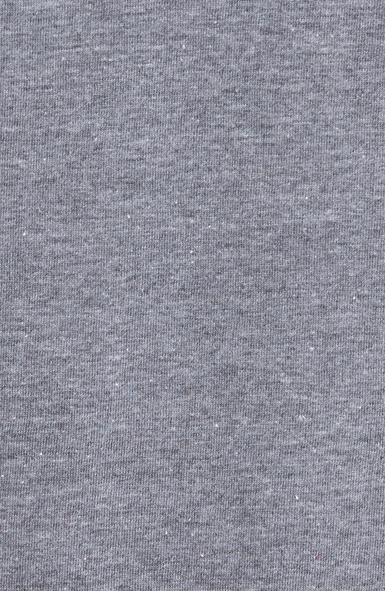 Planer Raglan T-Shirt,                             Alternate thumbnail 5, color,                             Grey W/ Black