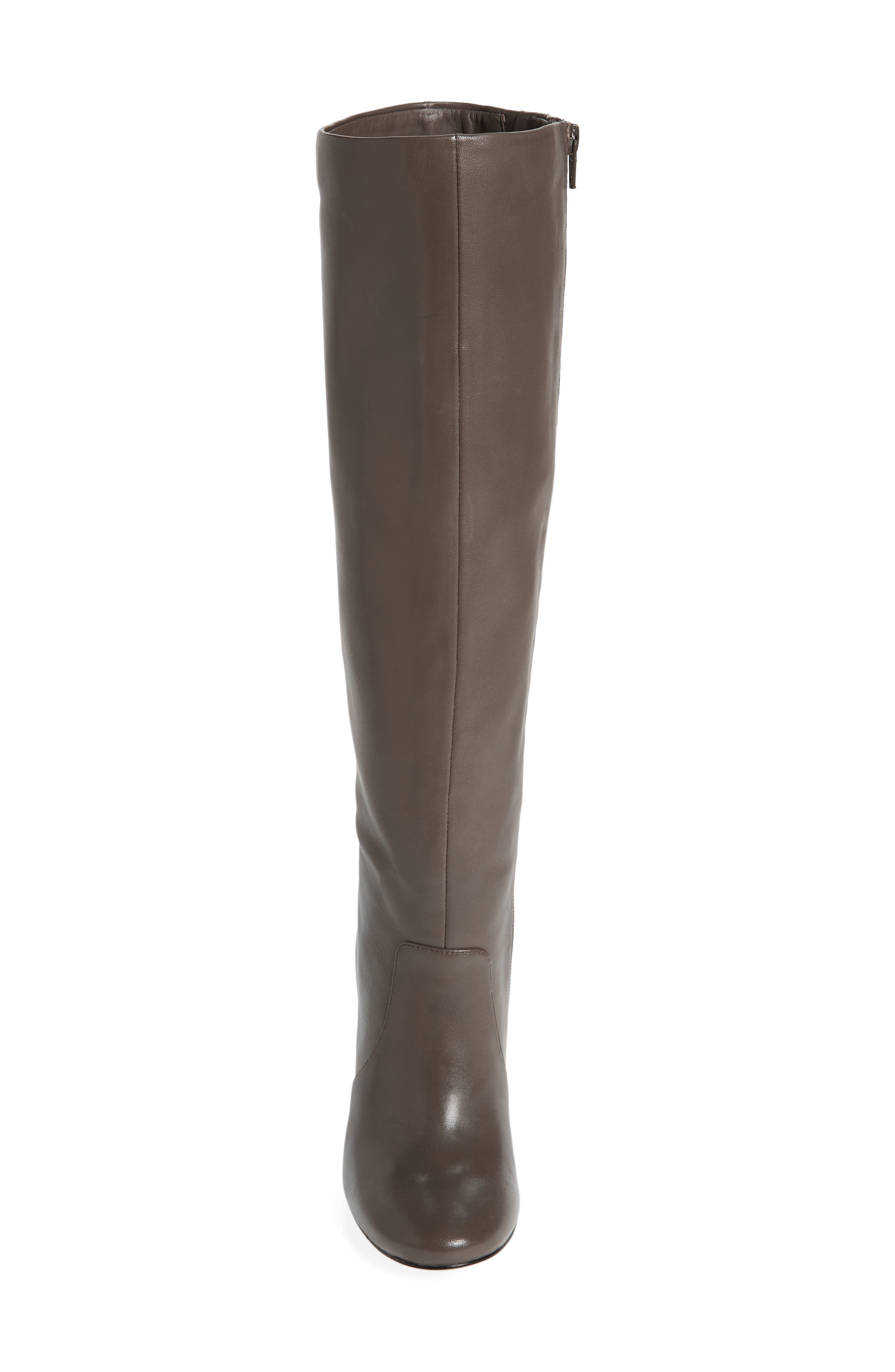 Roslin Knee High Boot,                             Alternate thumbnail 4, color,                             Graphite Leather