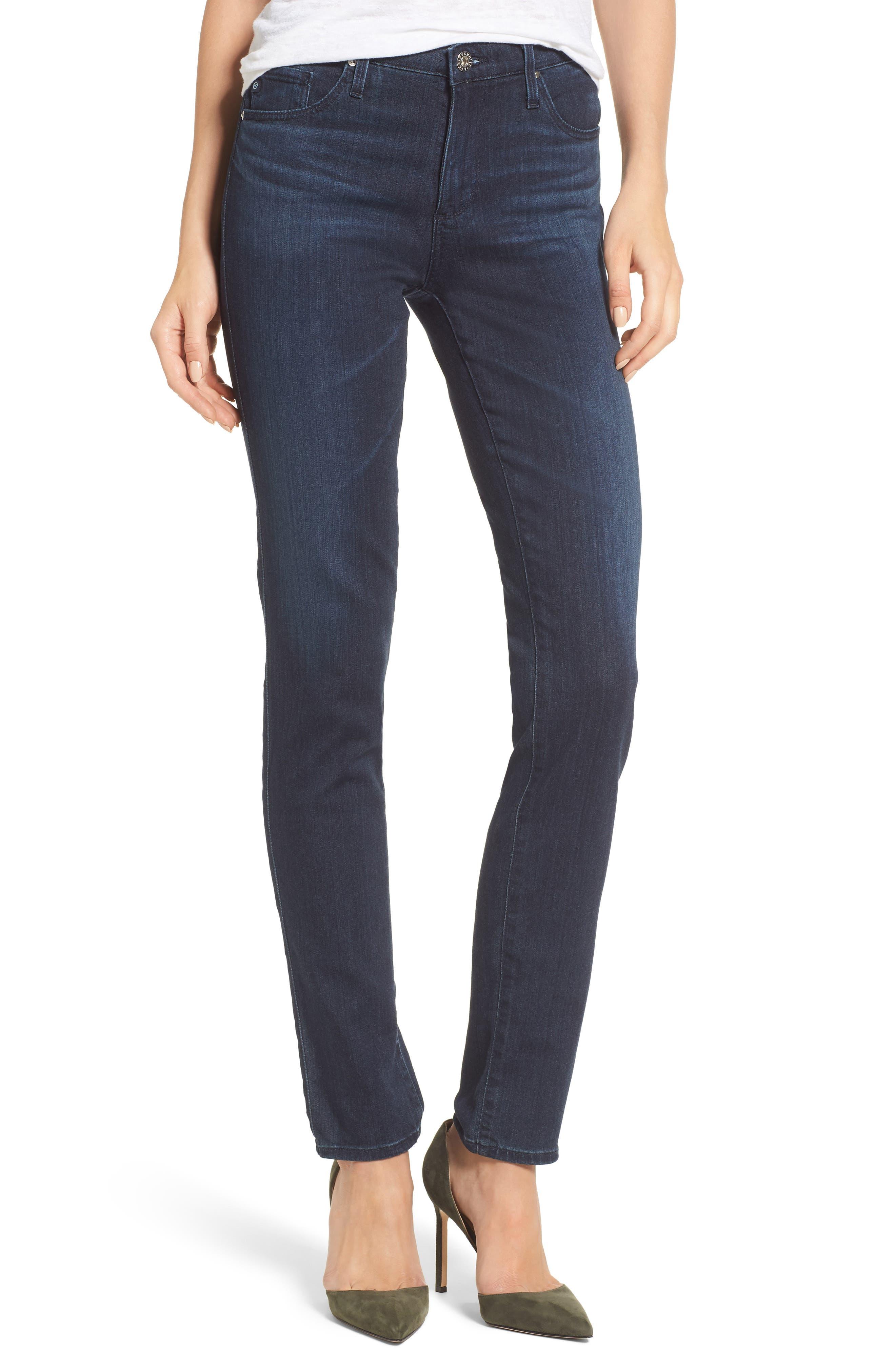 'The Prima' Mid Rise Cigarette Skinny Jeans,                         Main,                         color, Gallant